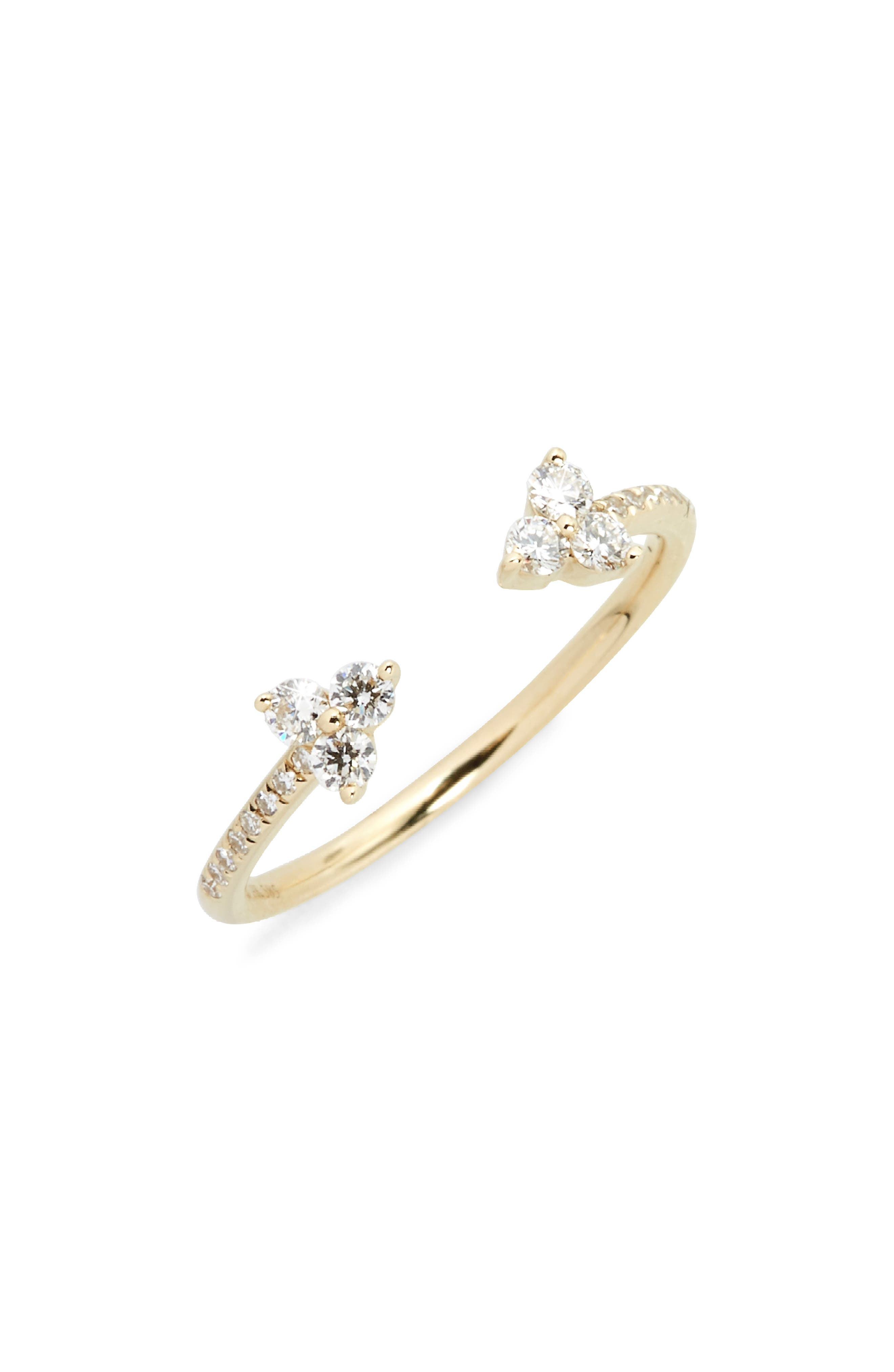 Open Diamond Ring,                         Main,                         color, Yellow Gold