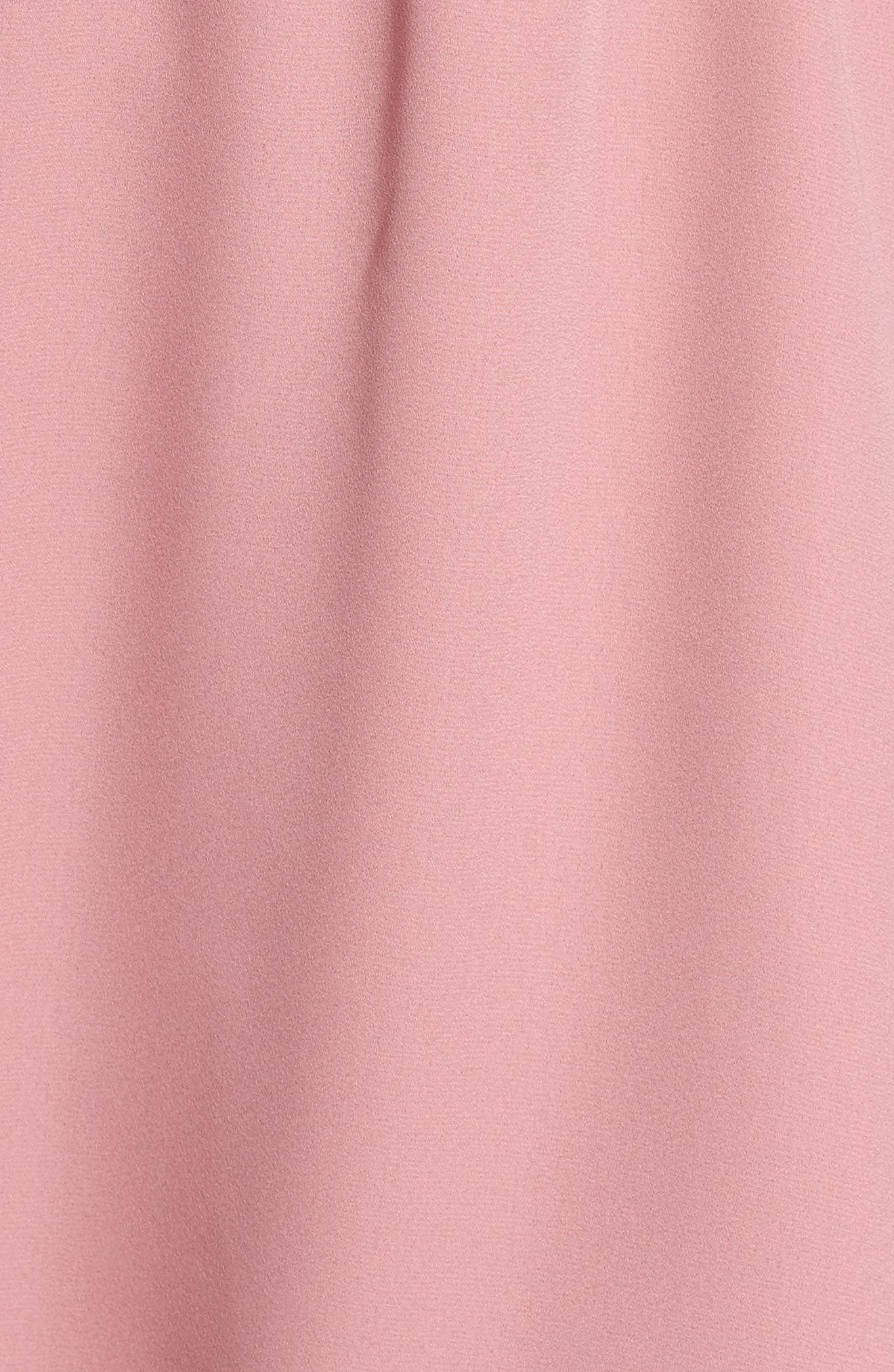 Adrienn Fit & Flare Dress,                             Alternate thumbnail 5, color,                             Dusty Rose