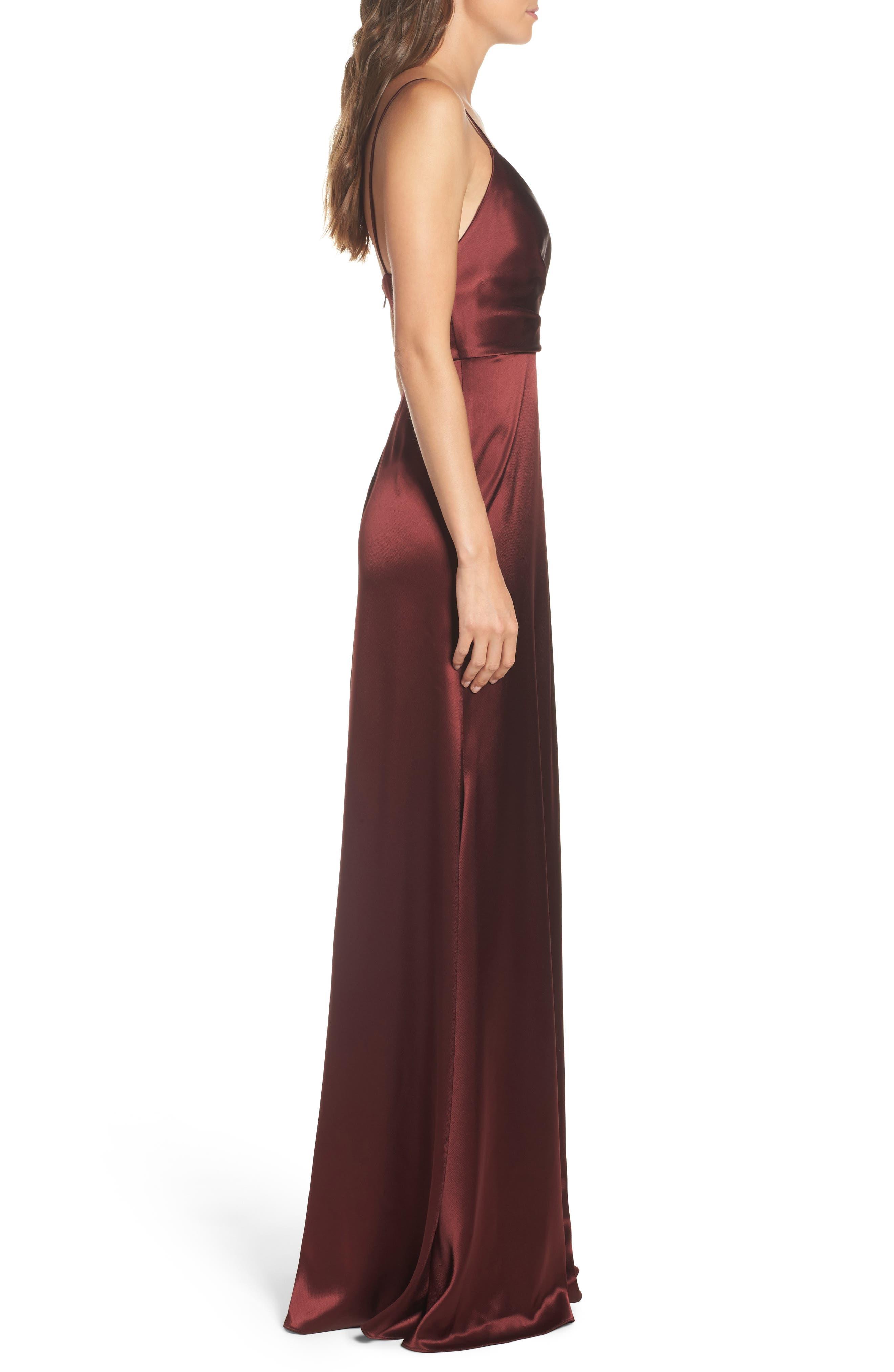 Alternate Image 3  - Jill Jill Stuart Faux Wrap Satin Gown
