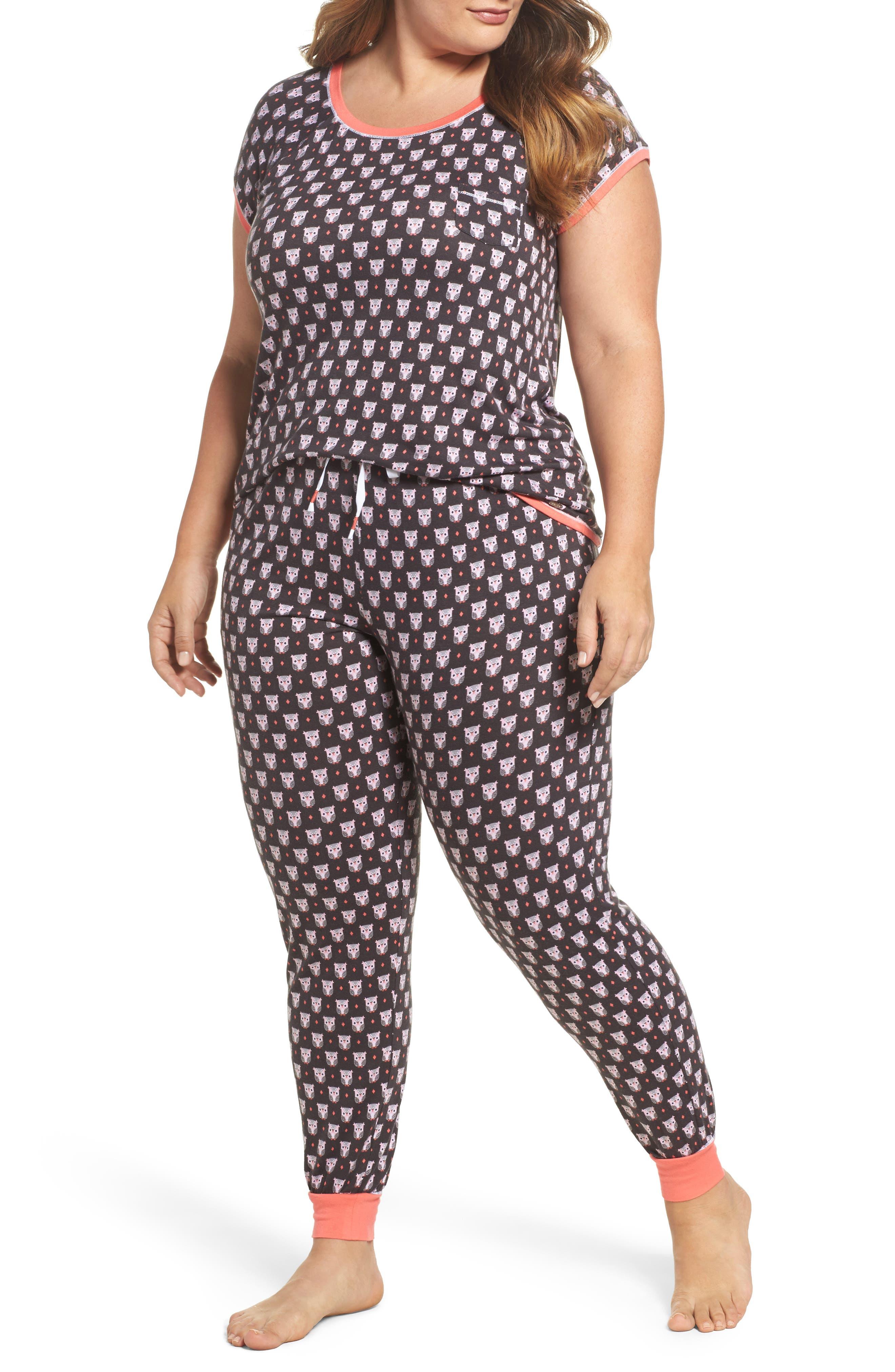 kensie Print Pajamas (Plus Size)