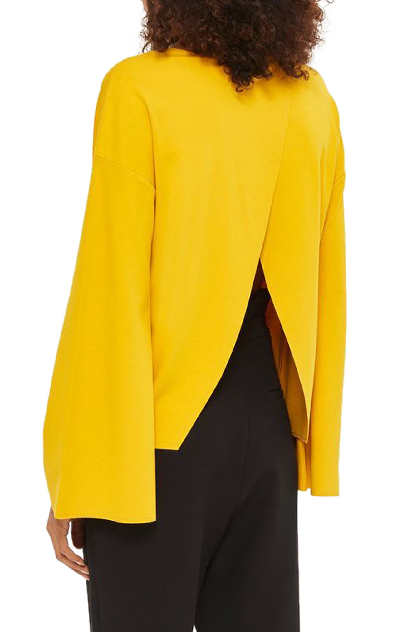 Alternate Image 3  - Topshop Split Back Bell Sleeve Sweatshirt