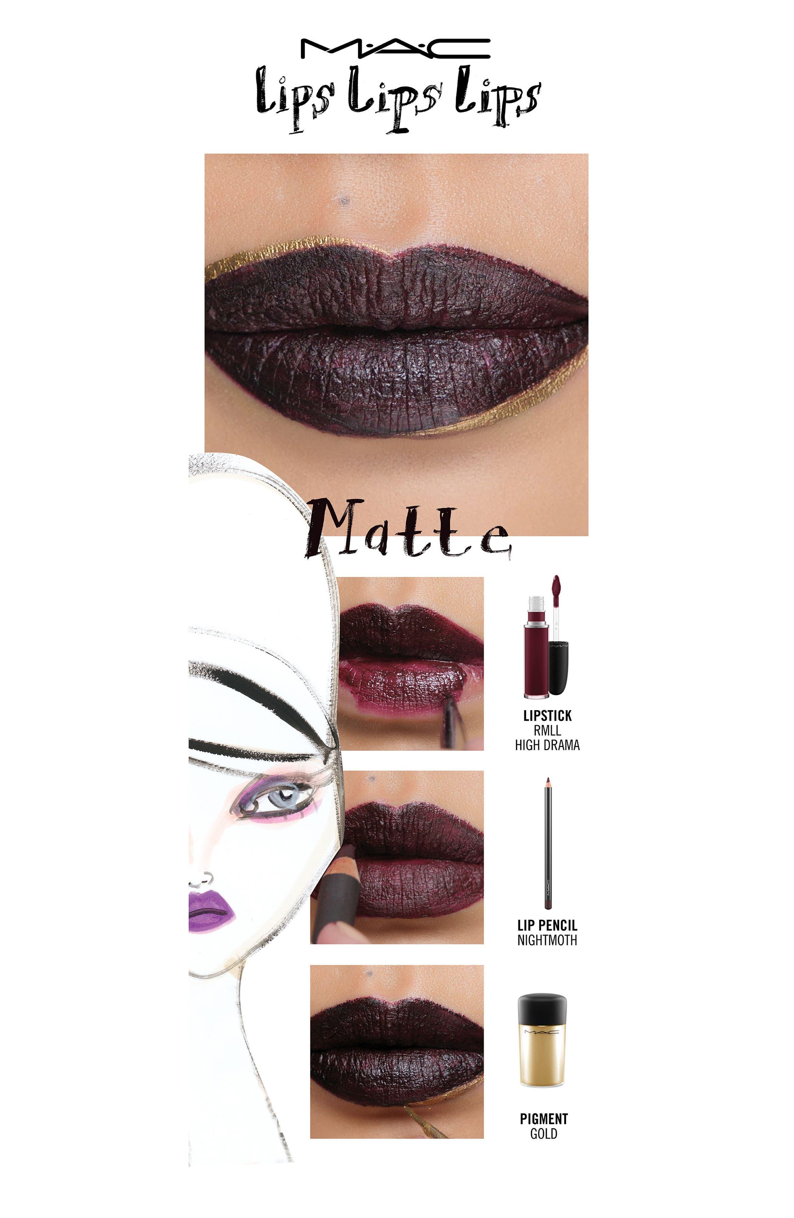 MAC Retro Matte Liquid Lipcolor,                             Alternate thumbnail 4, color,                             High Drama
