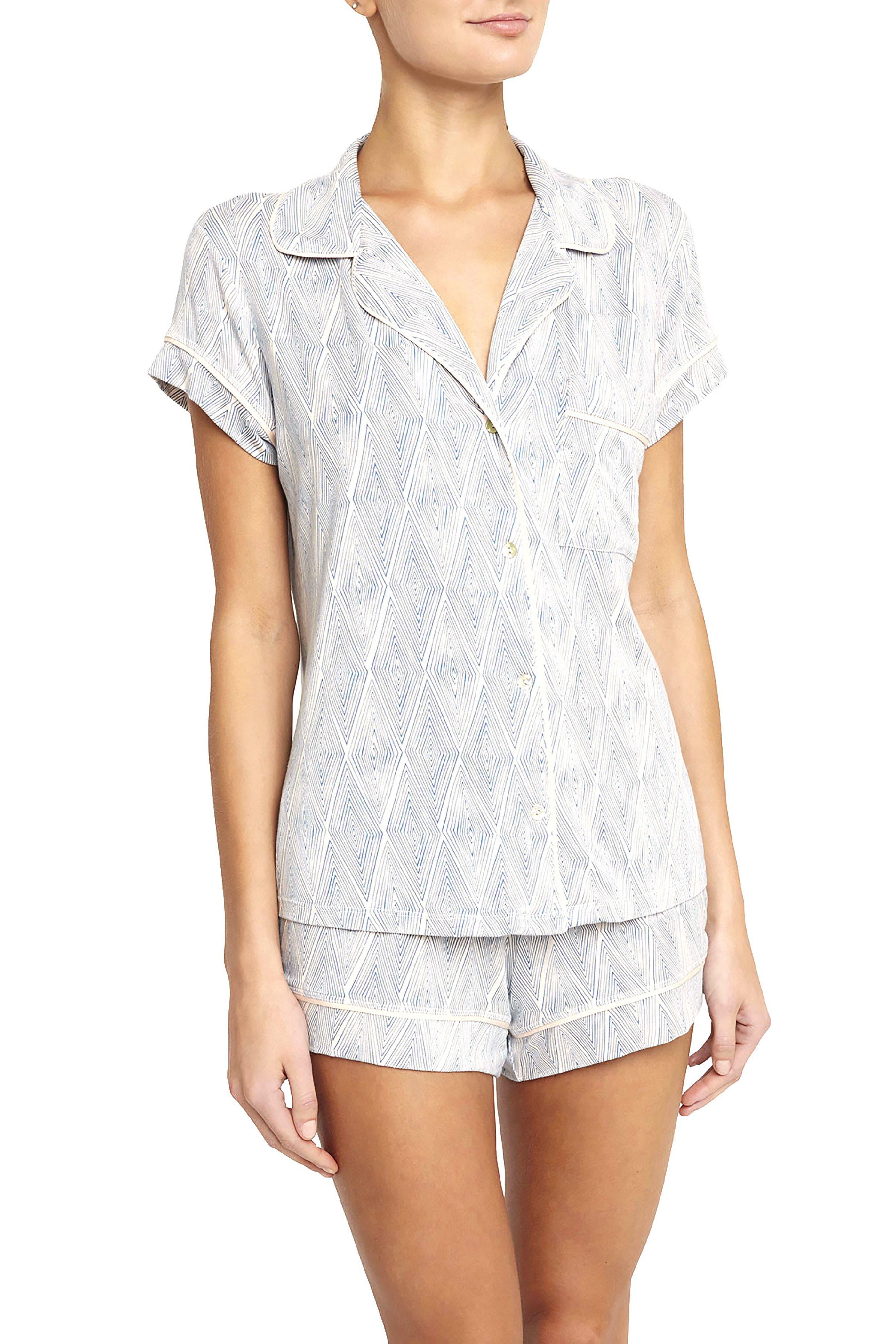 Eberjey Diamond Maze Short Pajamas