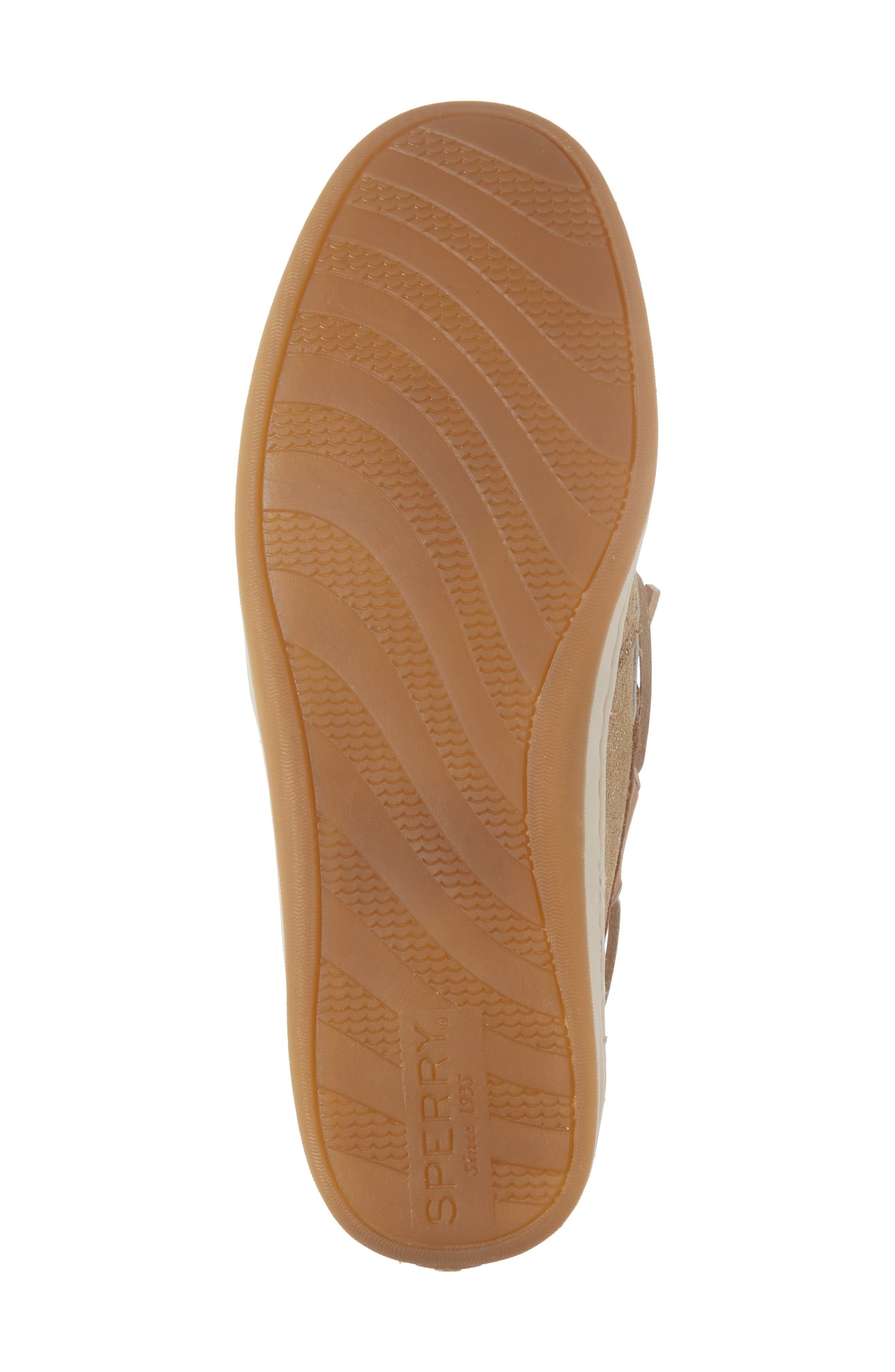 'Songfish' Boat Shoe,                             Alternate thumbnail 6, color,                             Linen/ Gold