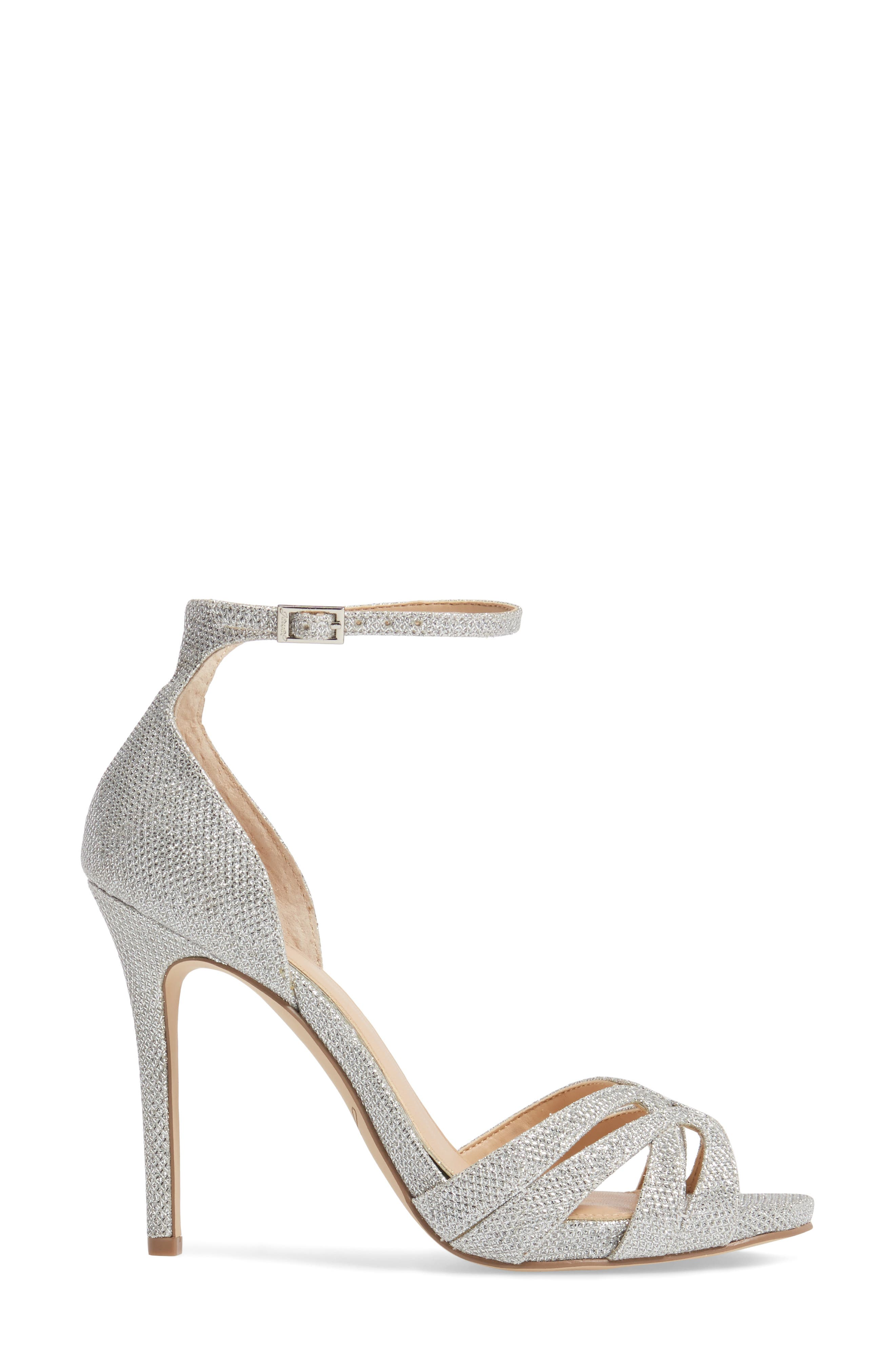 Alternate Image 3  - Jewel Badgley Mischka Loyal Glitter Sandal (Women)