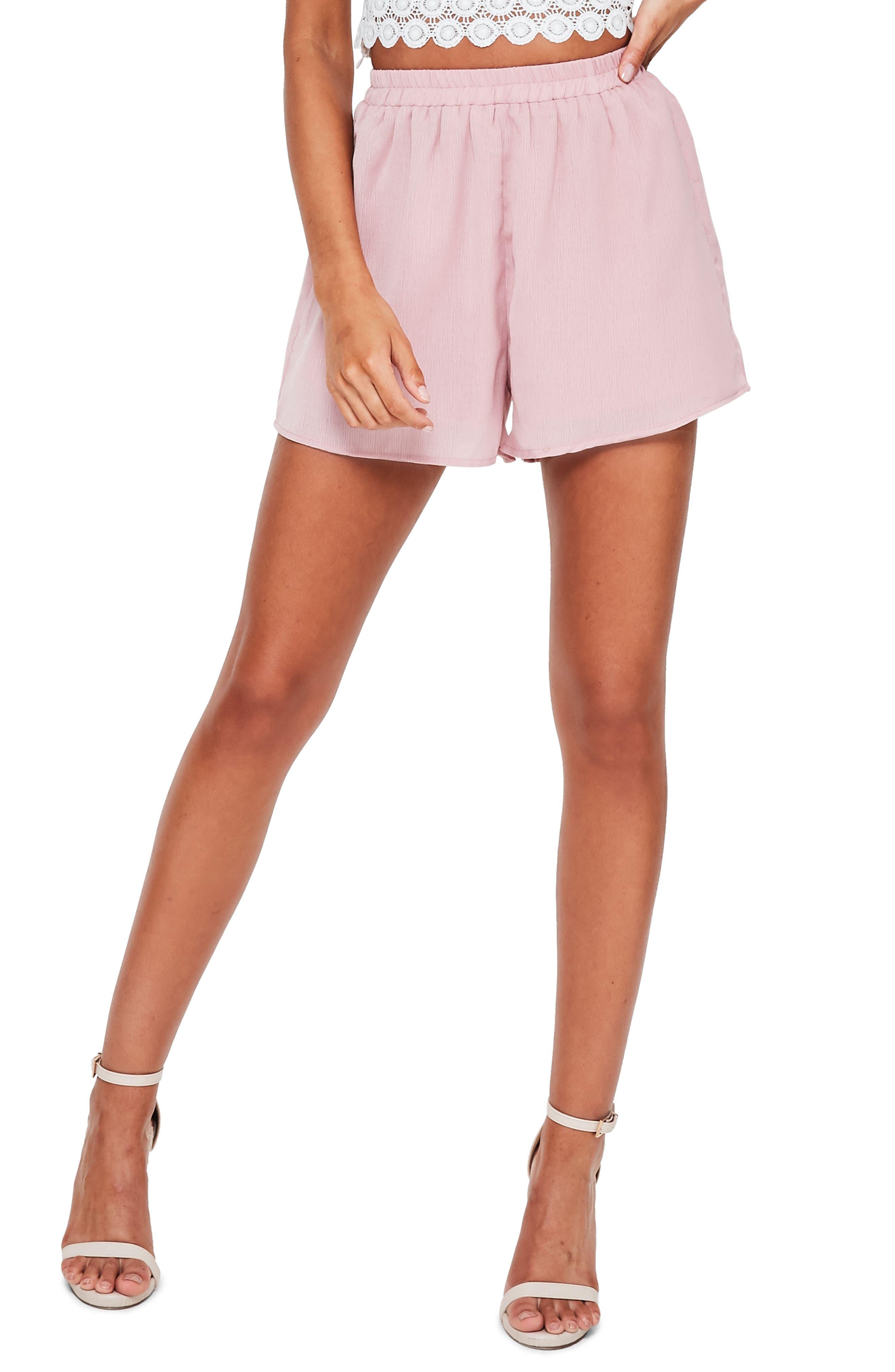 Missguided Elastic Waist Crepe Shorts