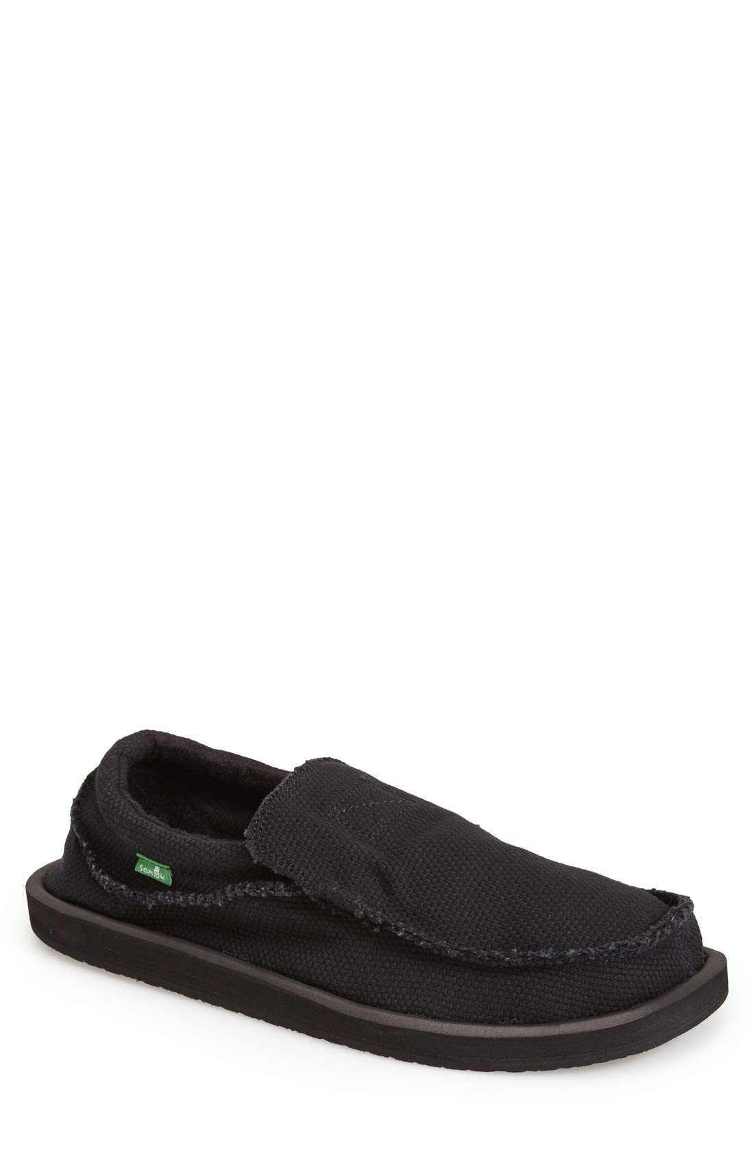 'Chiba' Slip-On,                             Main thumbnail 1, color,                             Blackout