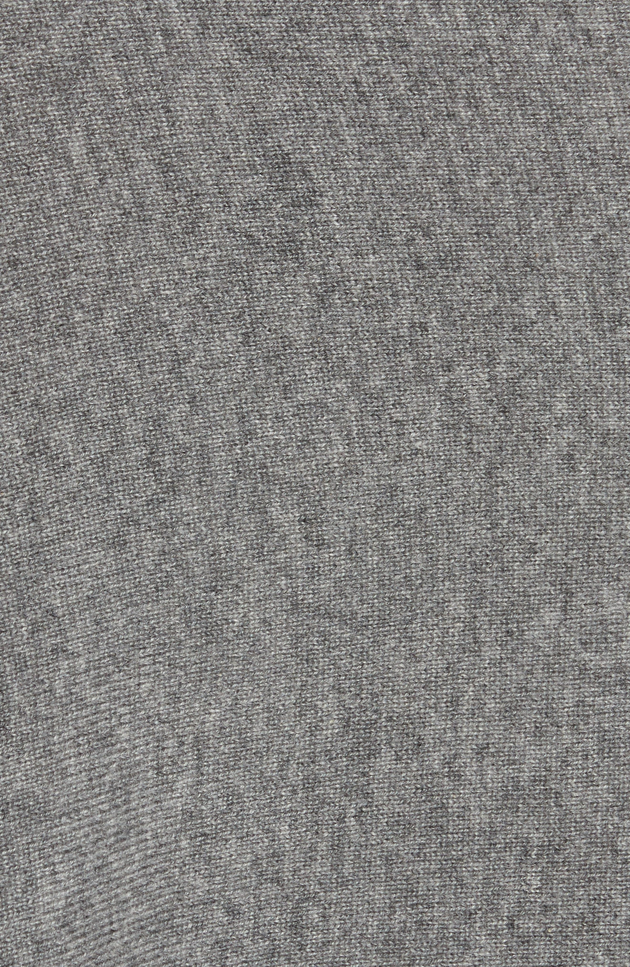 Cashmere Handkerchief Hem Skirt,                             Alternate thumbnail 6, color,                             Banker Mlange