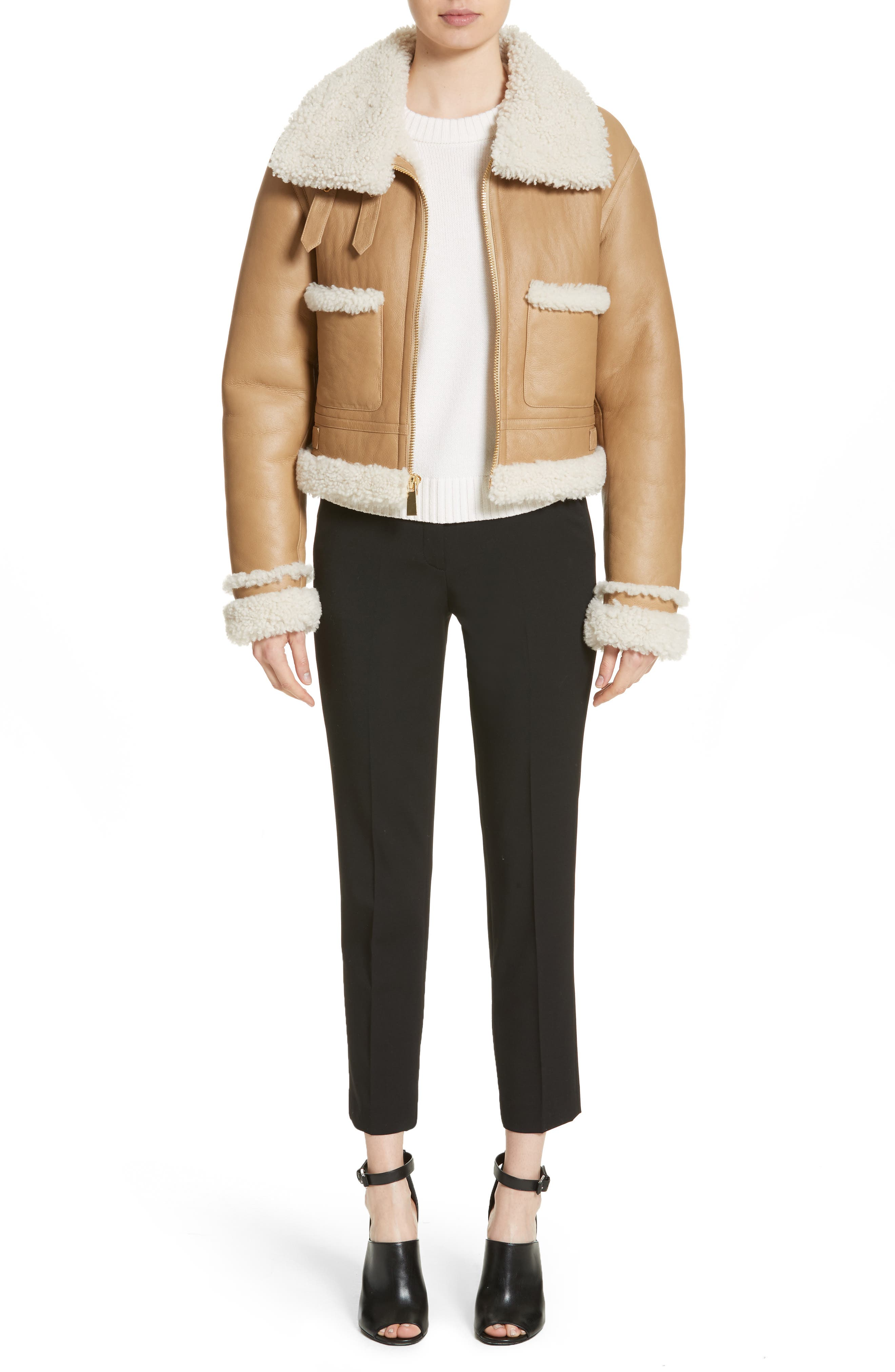 Alternate Image 7  - Michael Kors Genuine Shearling Moto Jacket