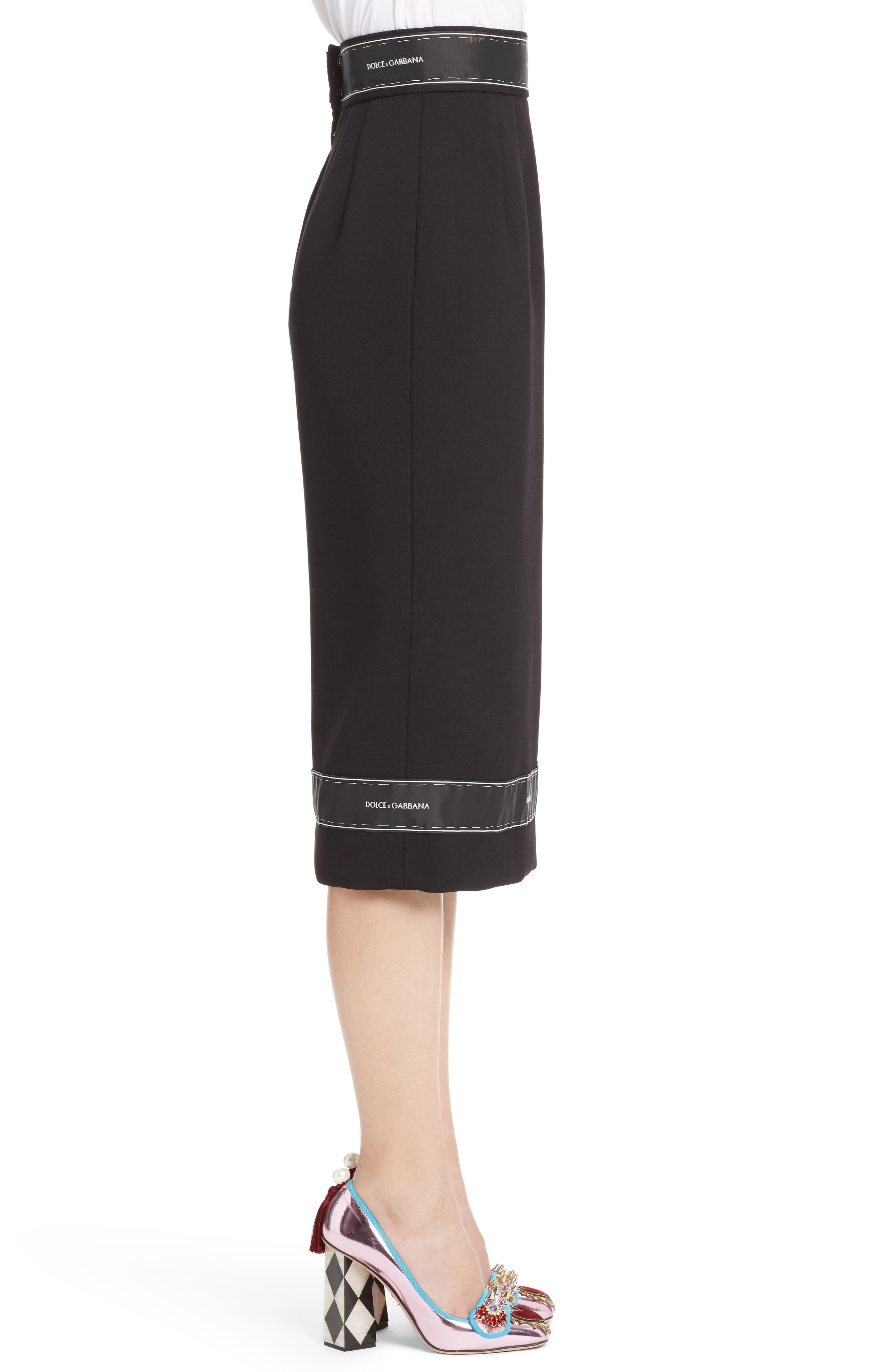 Alternate Image 3  - Dolce&Gabbana Ribbon Trim Pencil Skirt