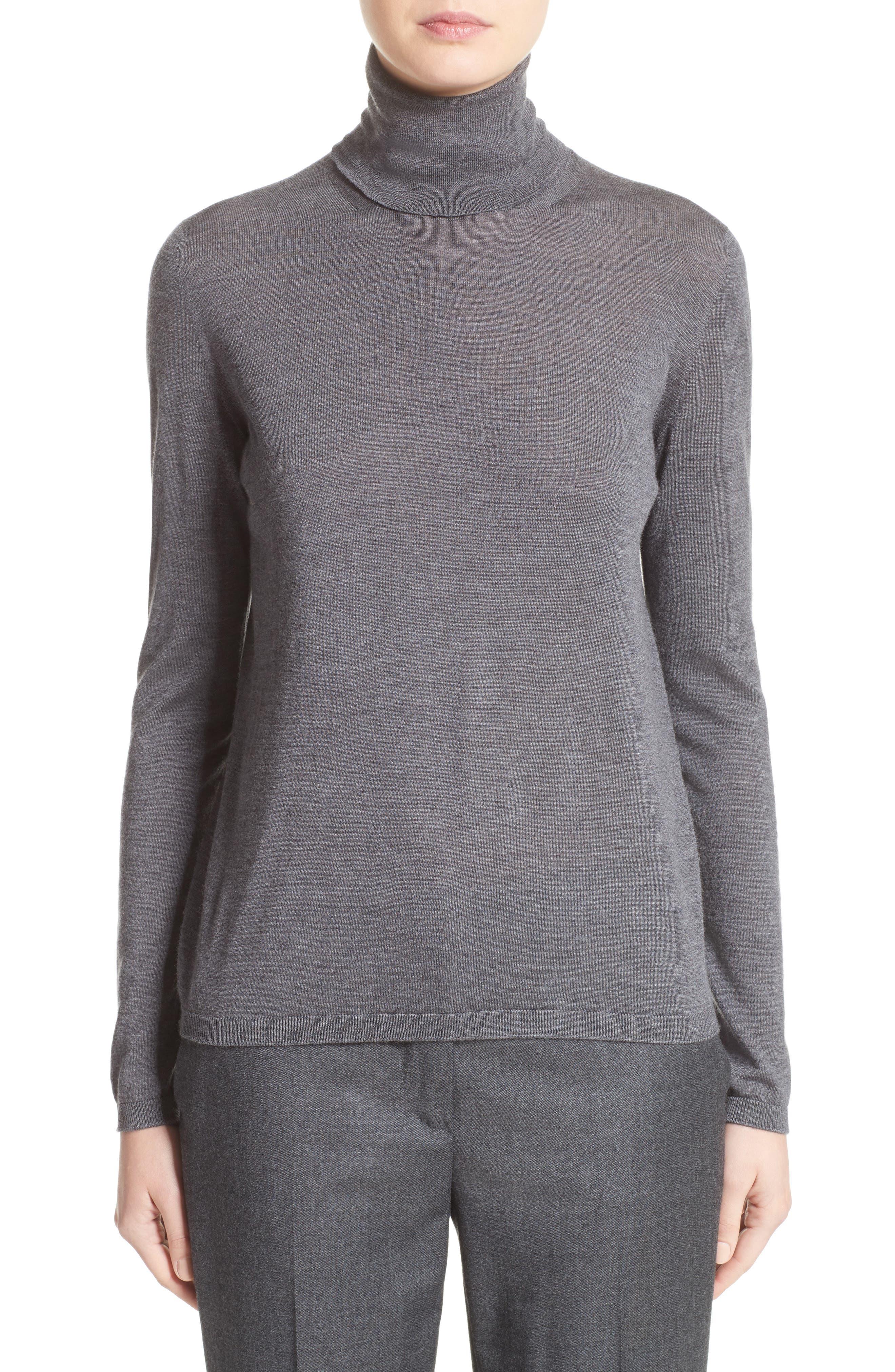 Virgin Wool Turtleneck,                         Main,                         color, Dark Grey