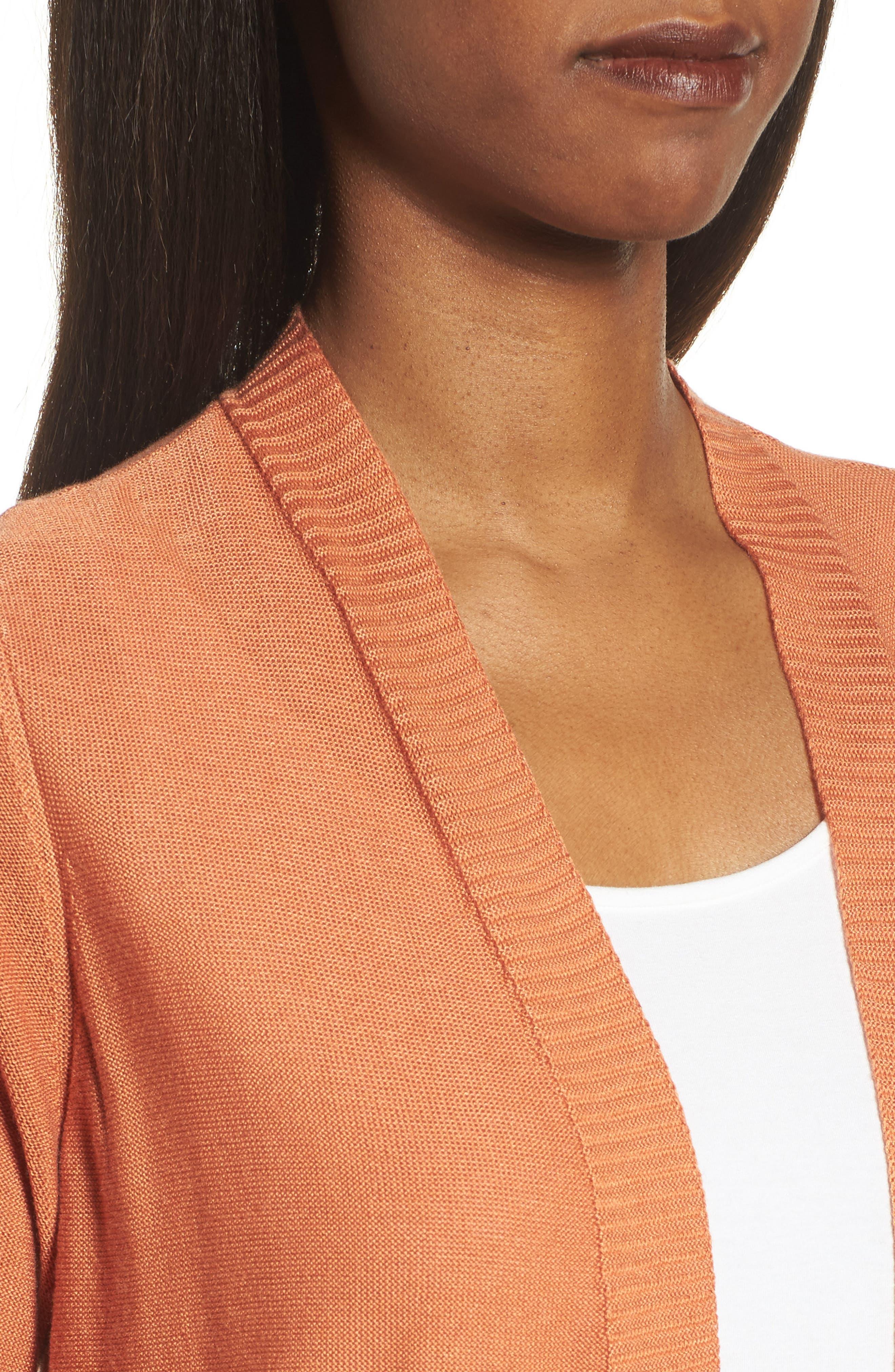 Alternate Image 4  - Eileen Fisher Simple Tencel® & Merino Wool Cardigan