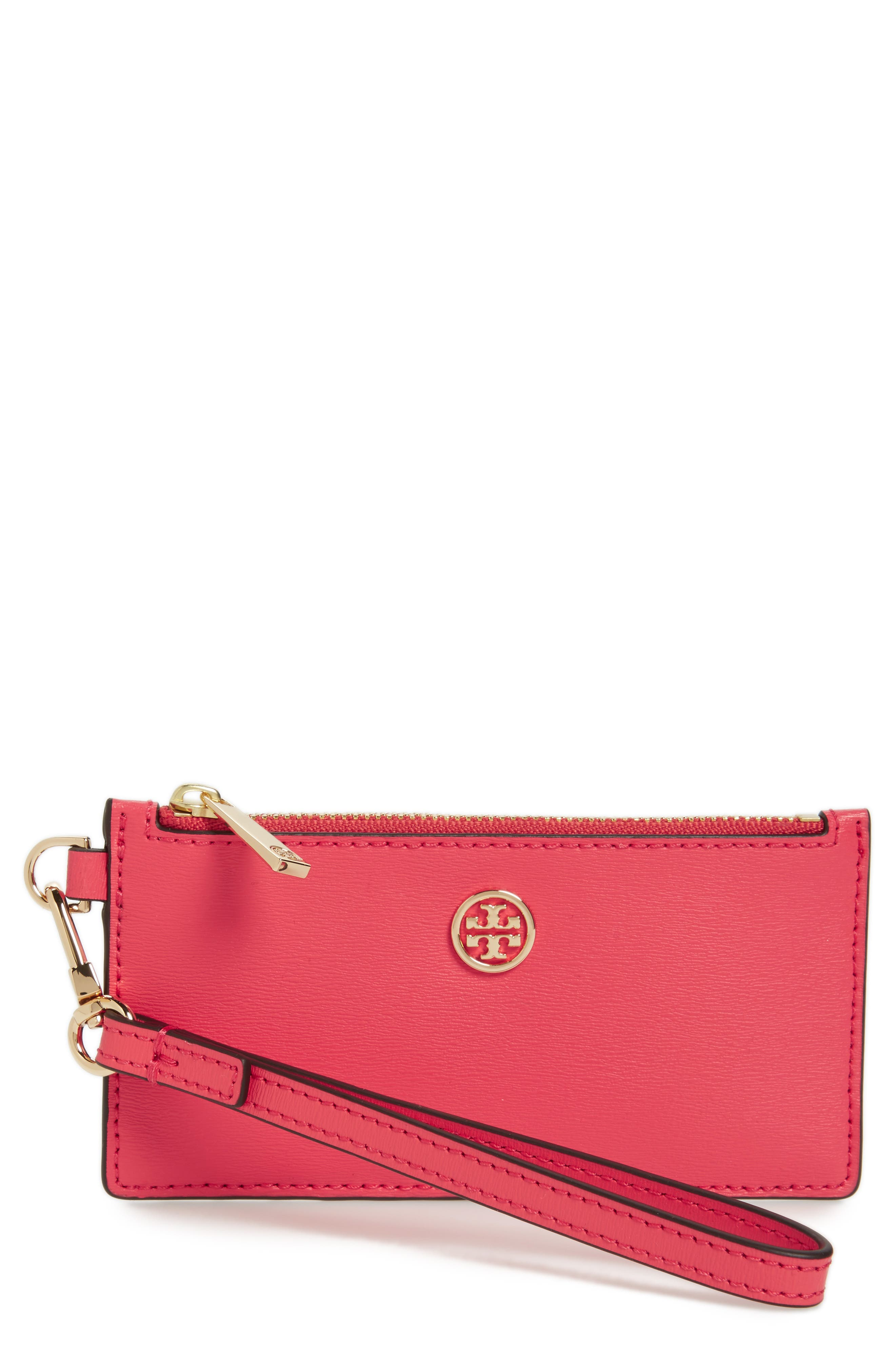 Main Image - Tory Burch Parker Leather Card Case