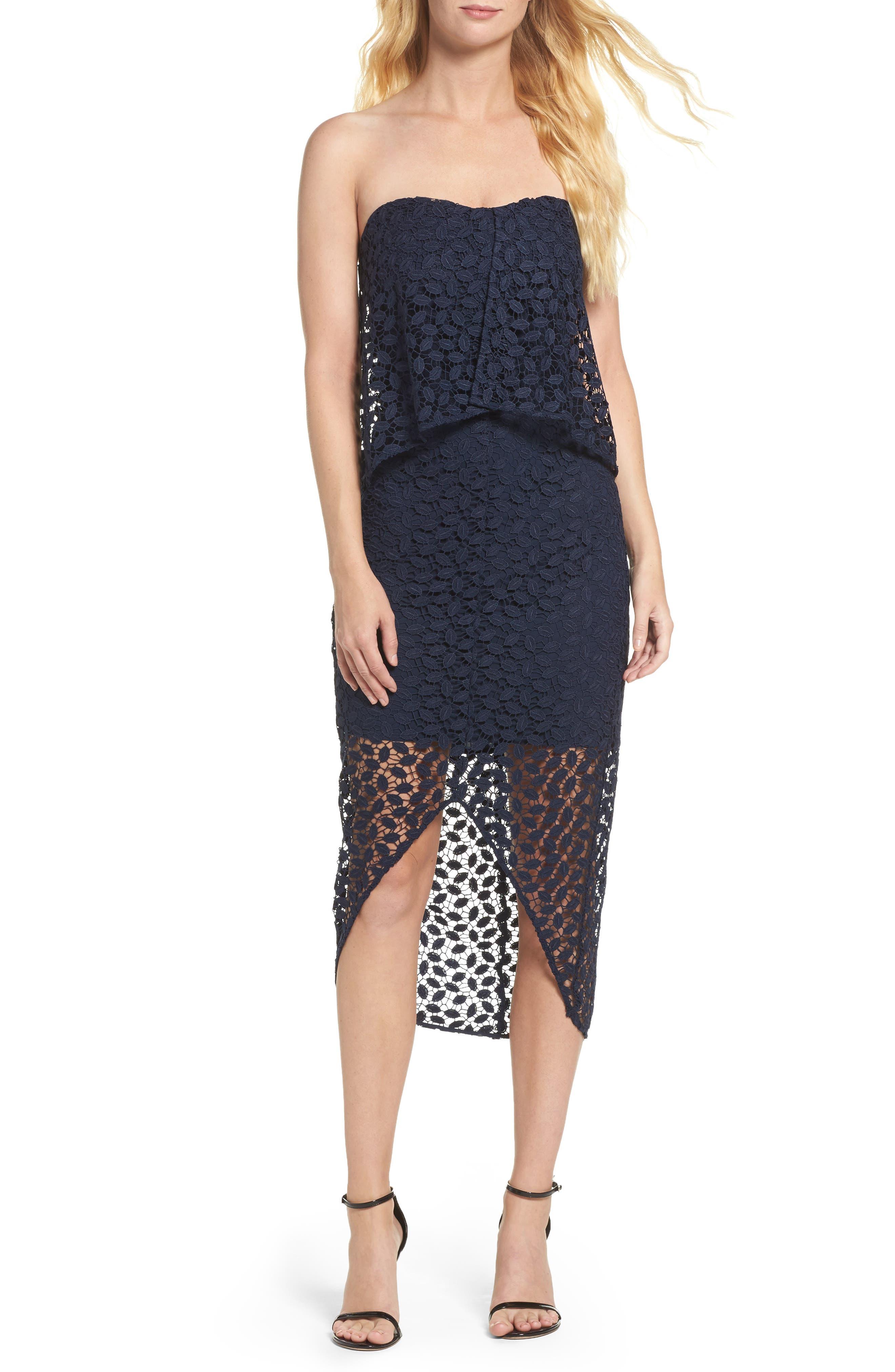 CHELSEA28 Strapless Popover Dress