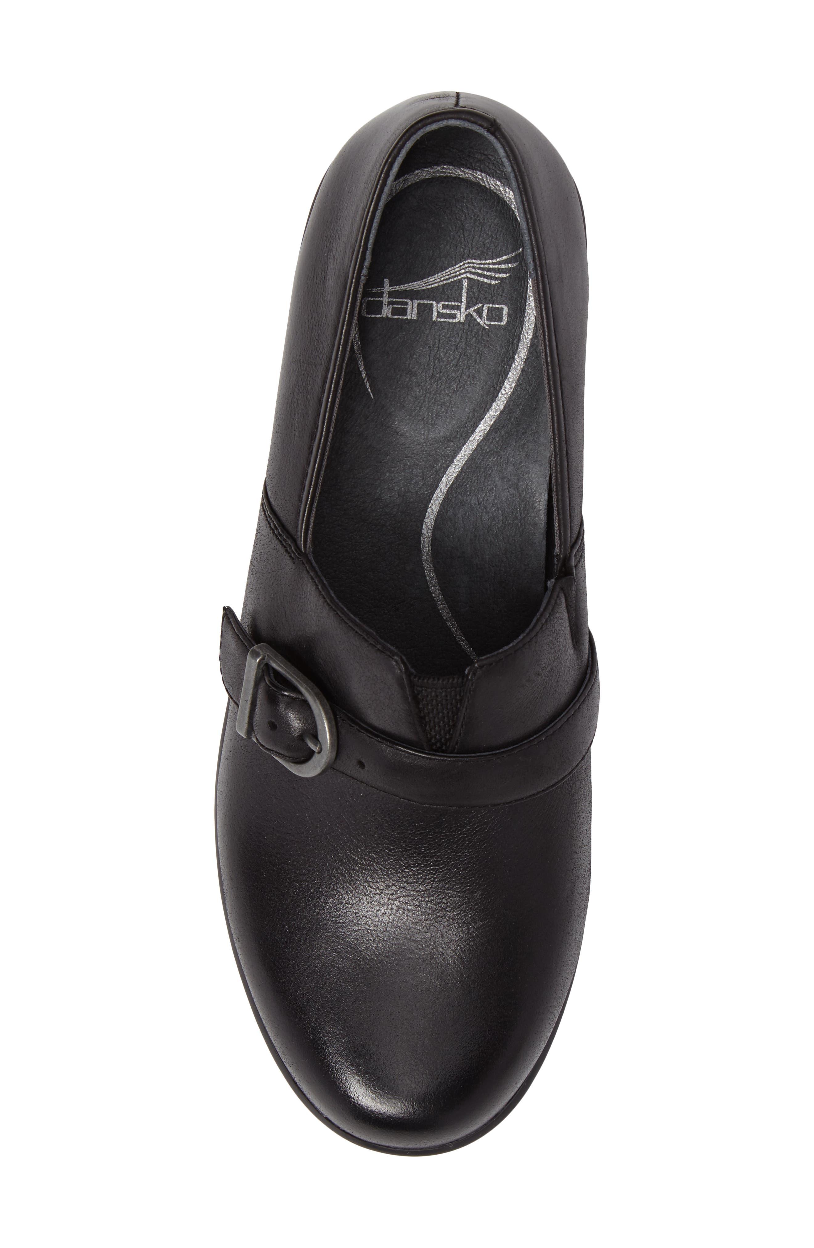 Jane Platform Loafer,                             Alternate thumbnail 5, color,                             Black Burnished Nappa Leather