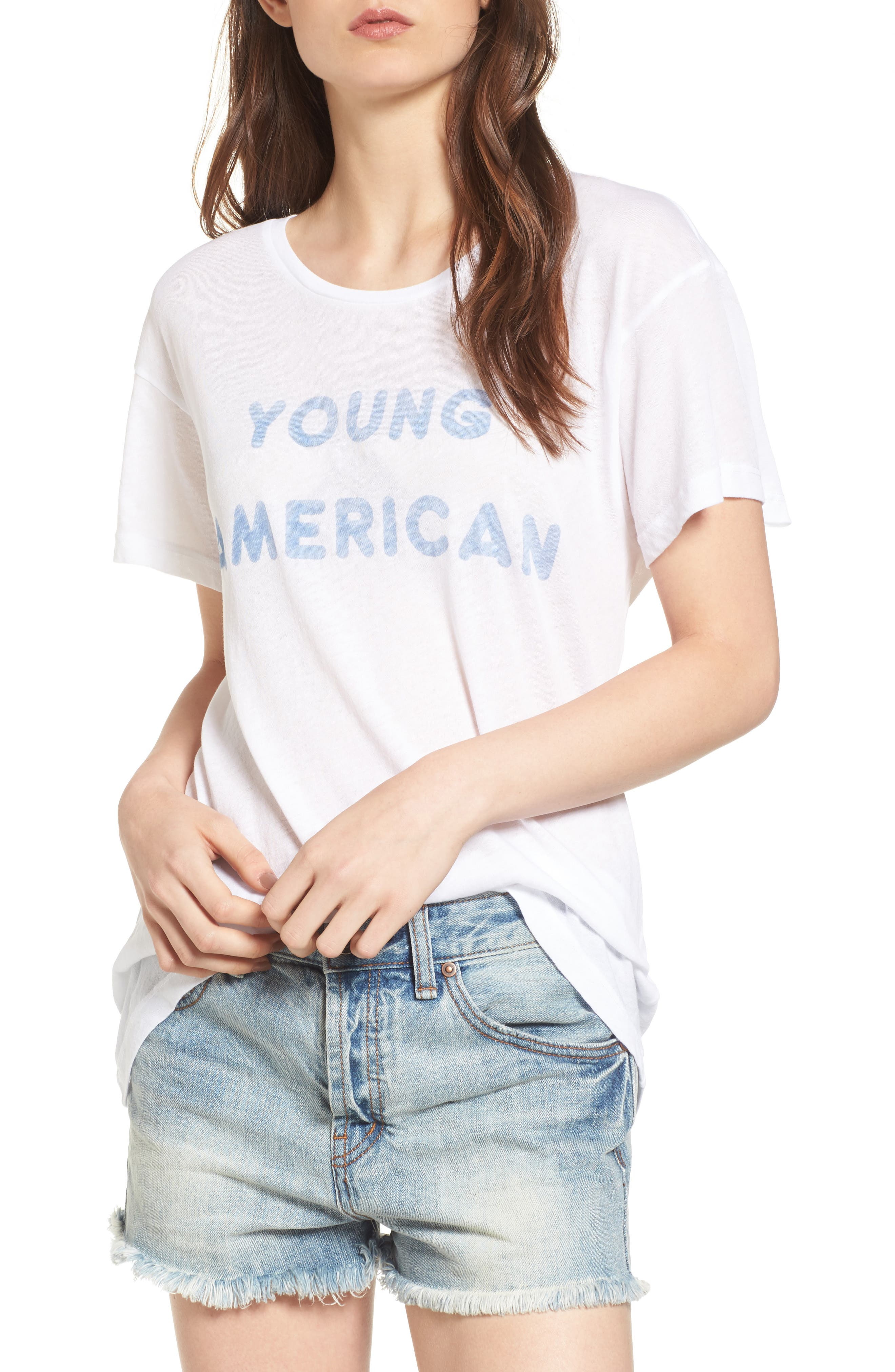 Young American Tee,                         Main,                         color, Clean White