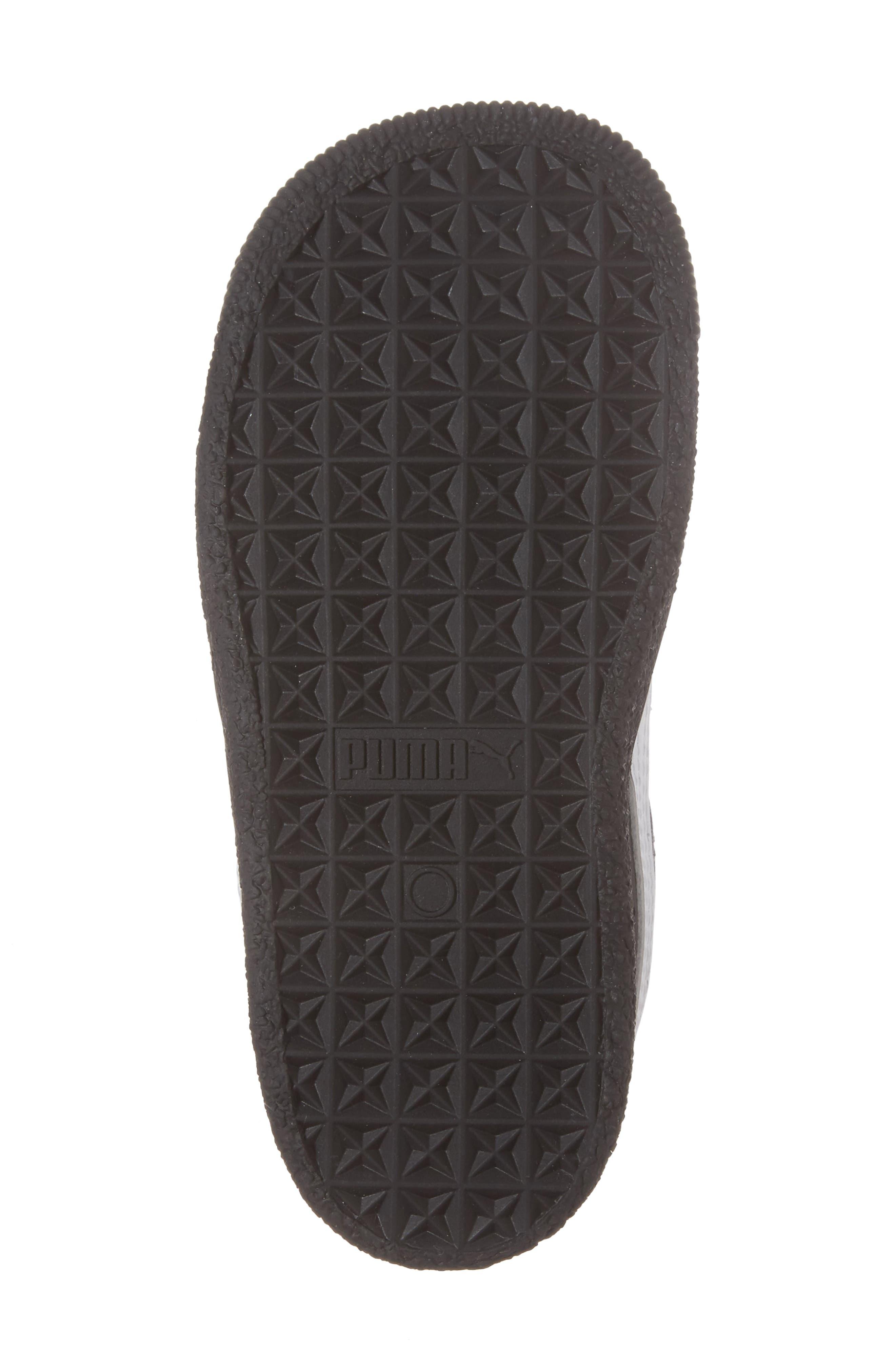 Alternate Image 6  - PUMA Clyde Core Foil Sneaker (Baby, Walker & Toddler)
