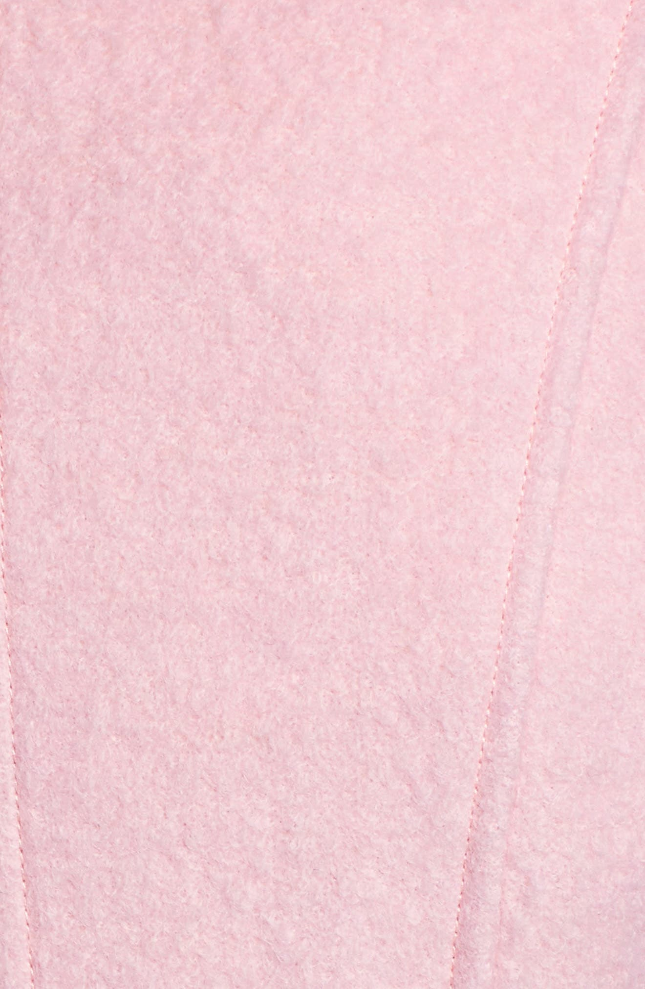 Double Breasted Wool Blend Coat,                             Alternate thumbnail 5, color,                             Pale Pink
