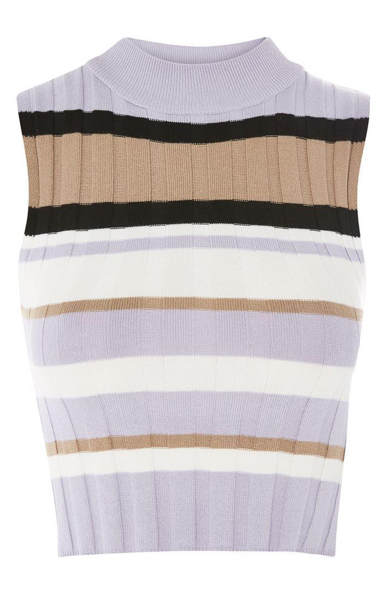Alternate Image 5  - Topshop Crop Stripe Sweater Tank