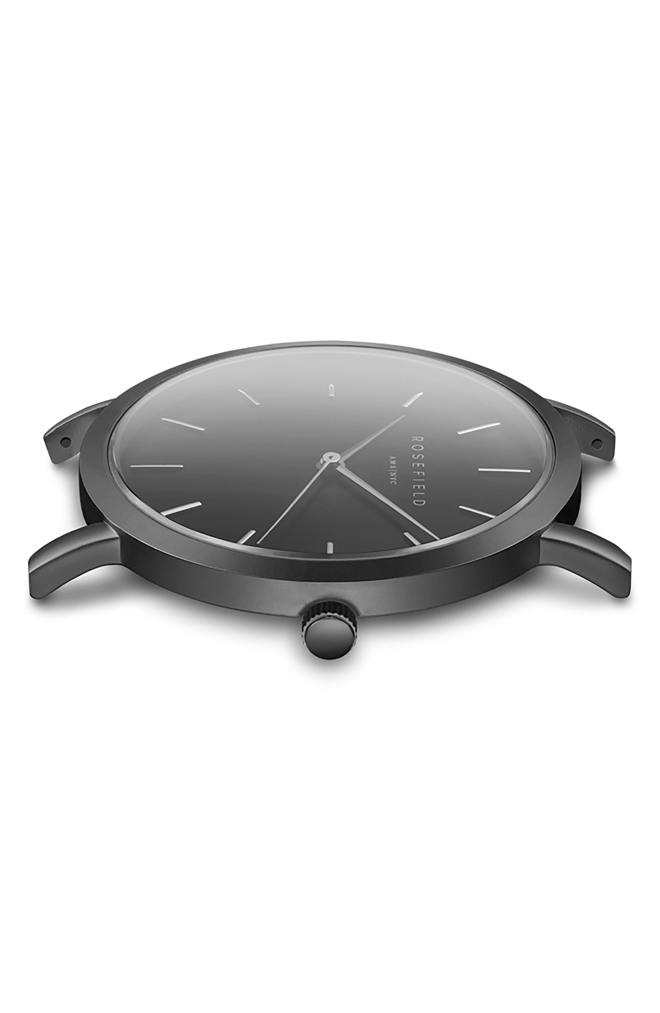 Gramercy Leather Strap Watch, 38mm,                             Alternate thumbnail 3, color,                             Black
