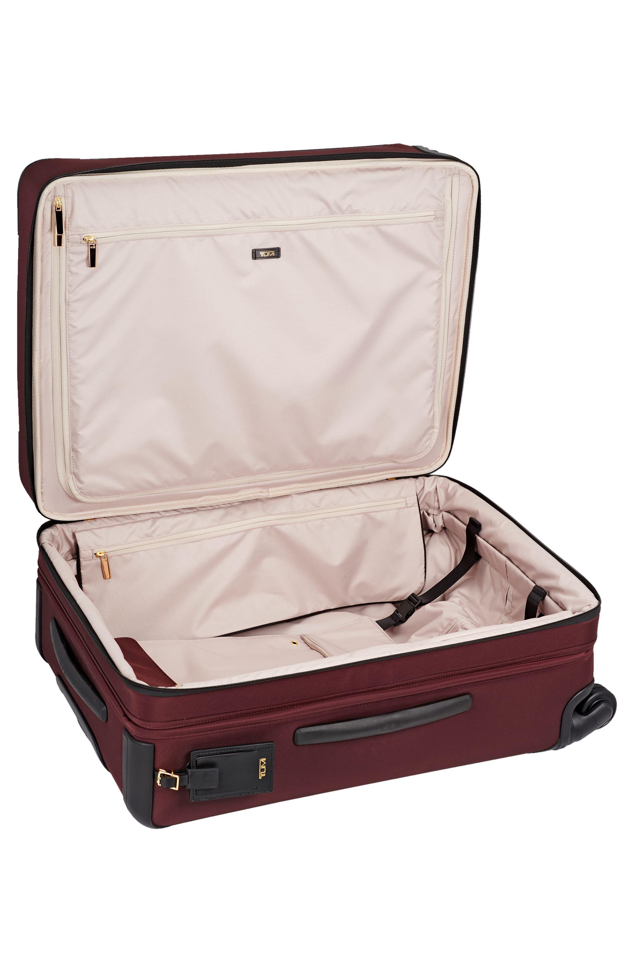 Jess Short Trip Expandable 26-Inch 4-Wheel Suitcase,                             Alternate thumbnail 4, color,                             Bordeaux
