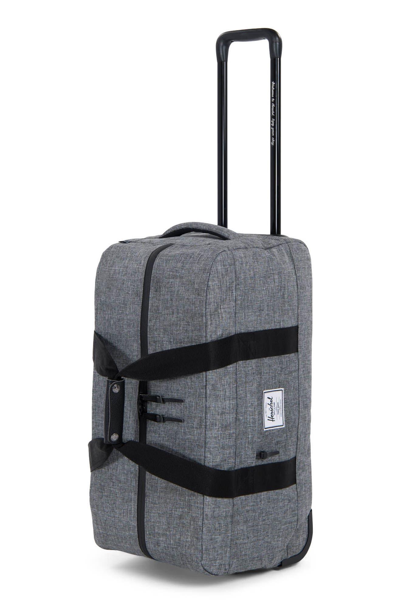 Wheelie Outfitter 24-Inch Duffel Bag,                             Alternate thumbnail 3, color,                             Raven Crosshatch