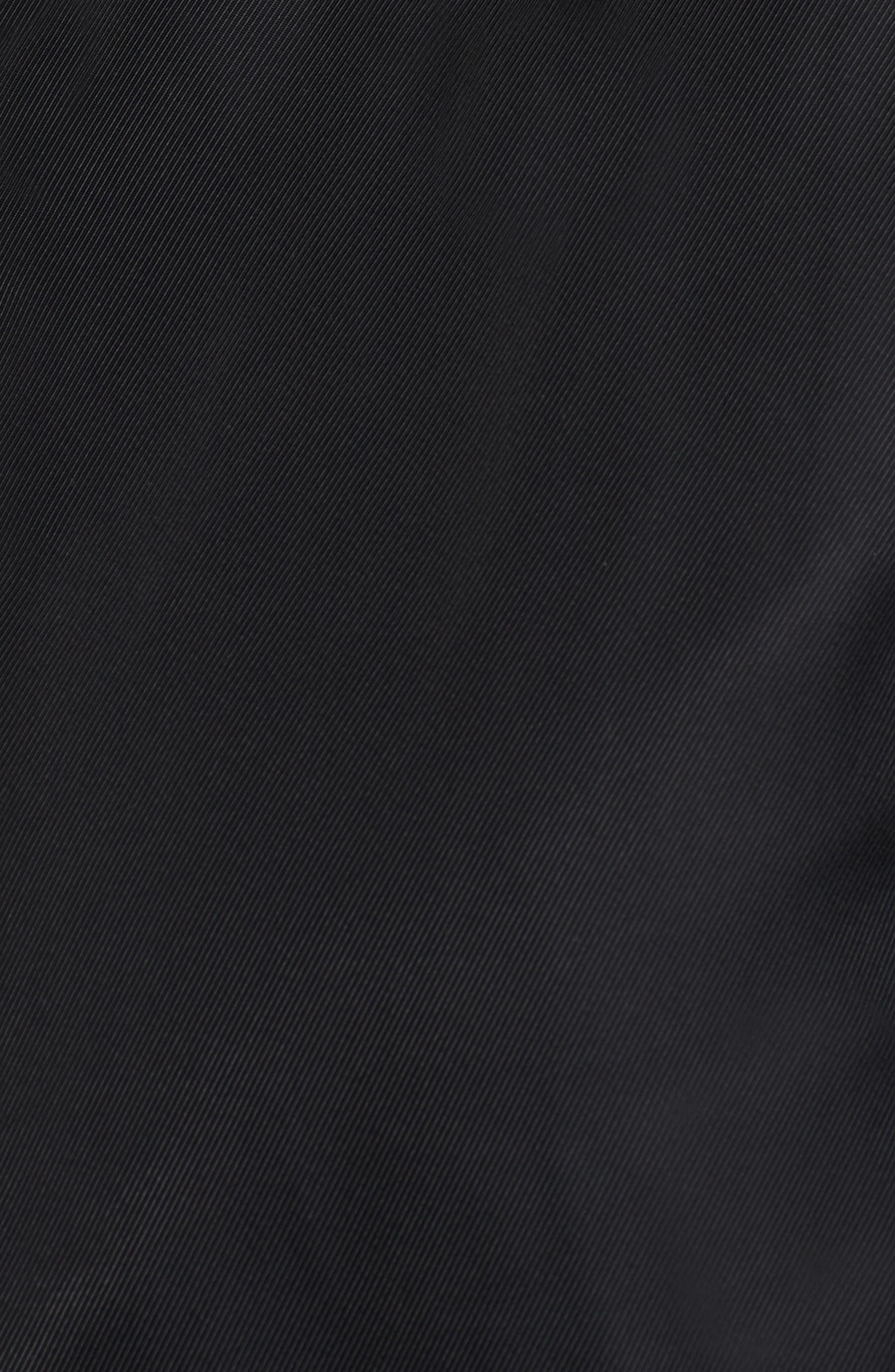 Graham Satin Bomber Jacket,                             Alternate thumbnail 5, color,                             Black