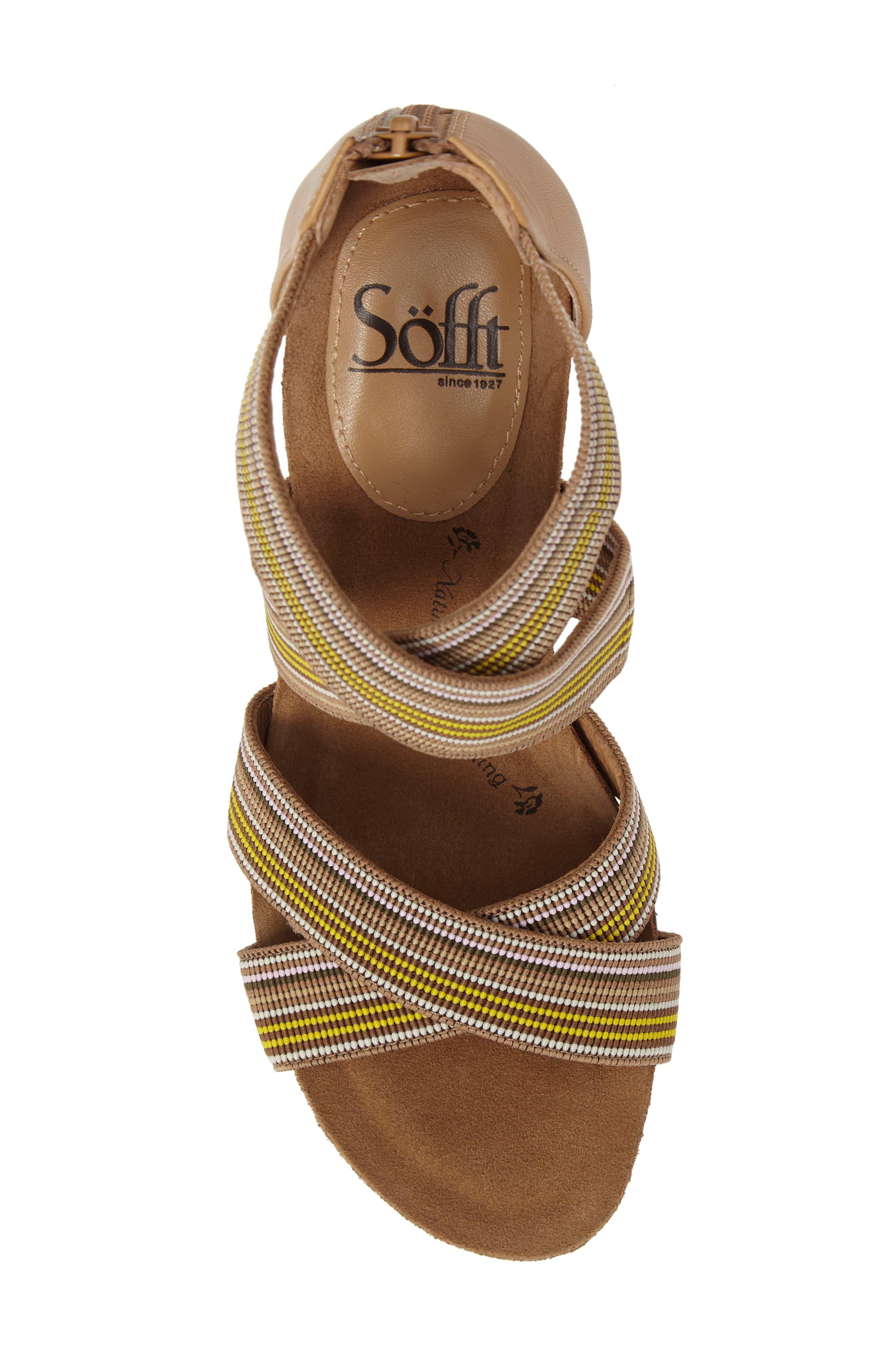 Alternate Image 5  - Söfft Cary Cross Strap Wedge Sandal (Women)