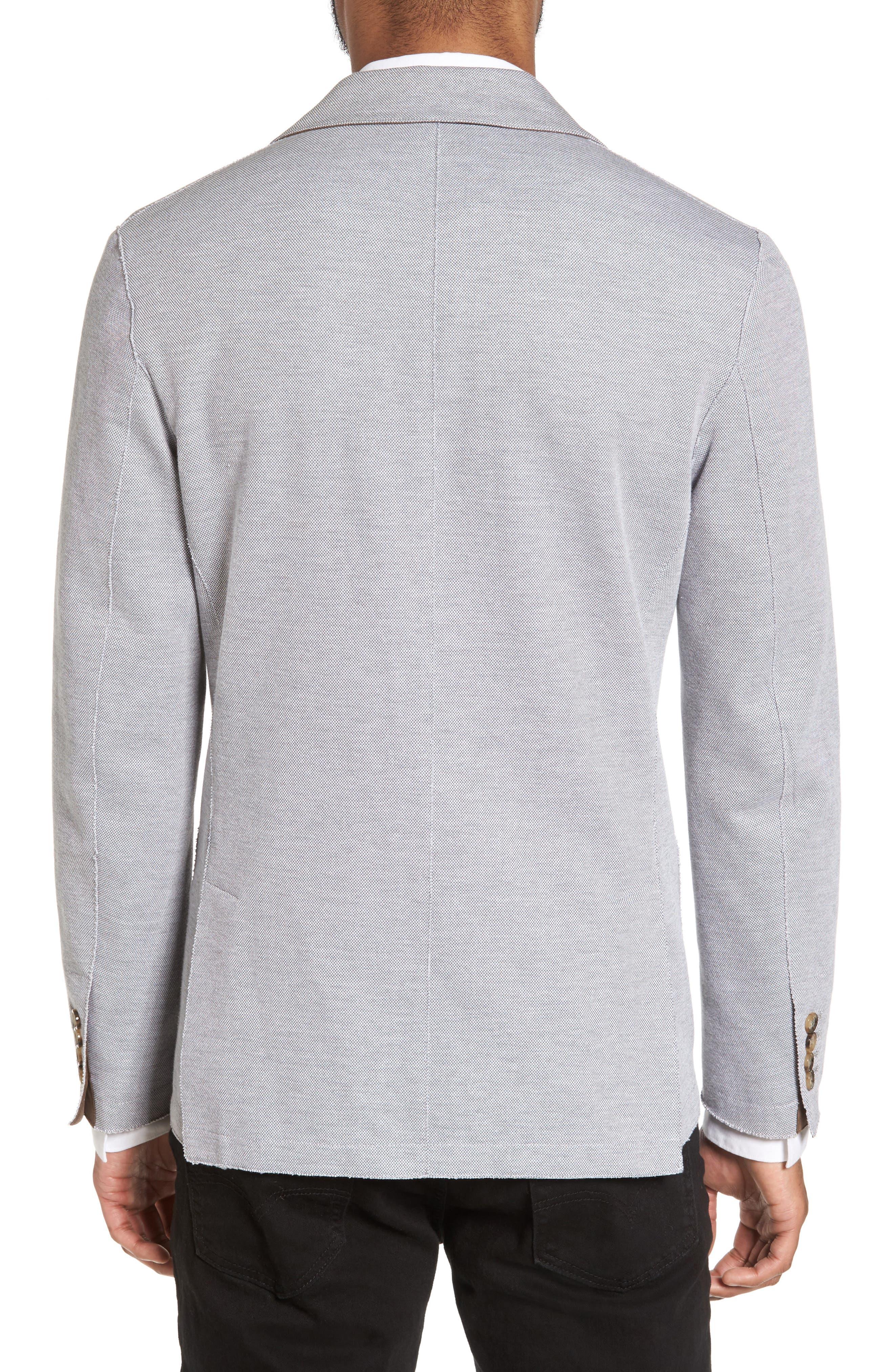 Trim Fit Jersey Blazer,                             Alternate thumbnail 4, color,                             Grey