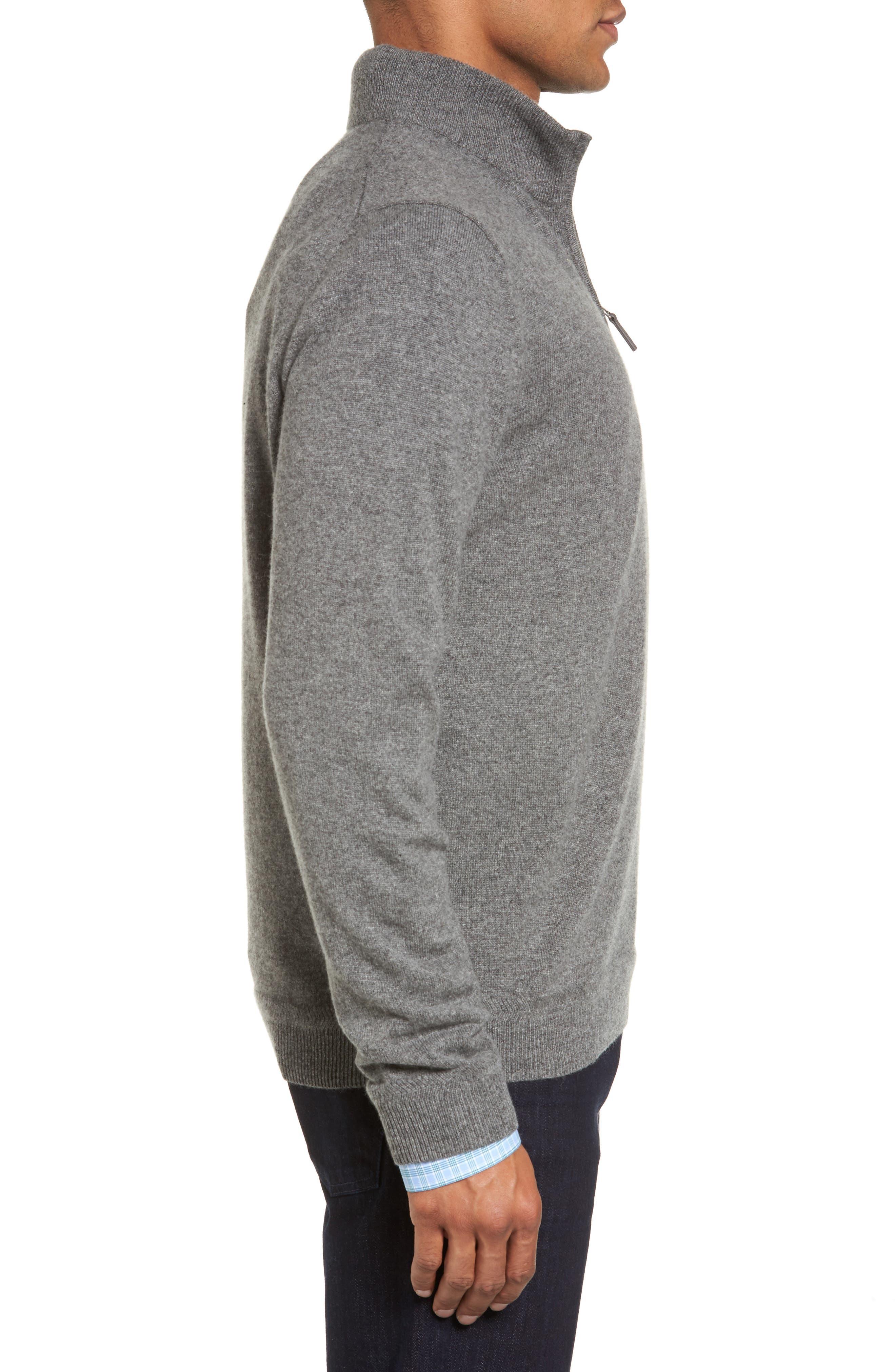 Alternate Image 3  - John W. Nordstrom® Quarter Zip Cashmere Sweater (Regular & Tall)