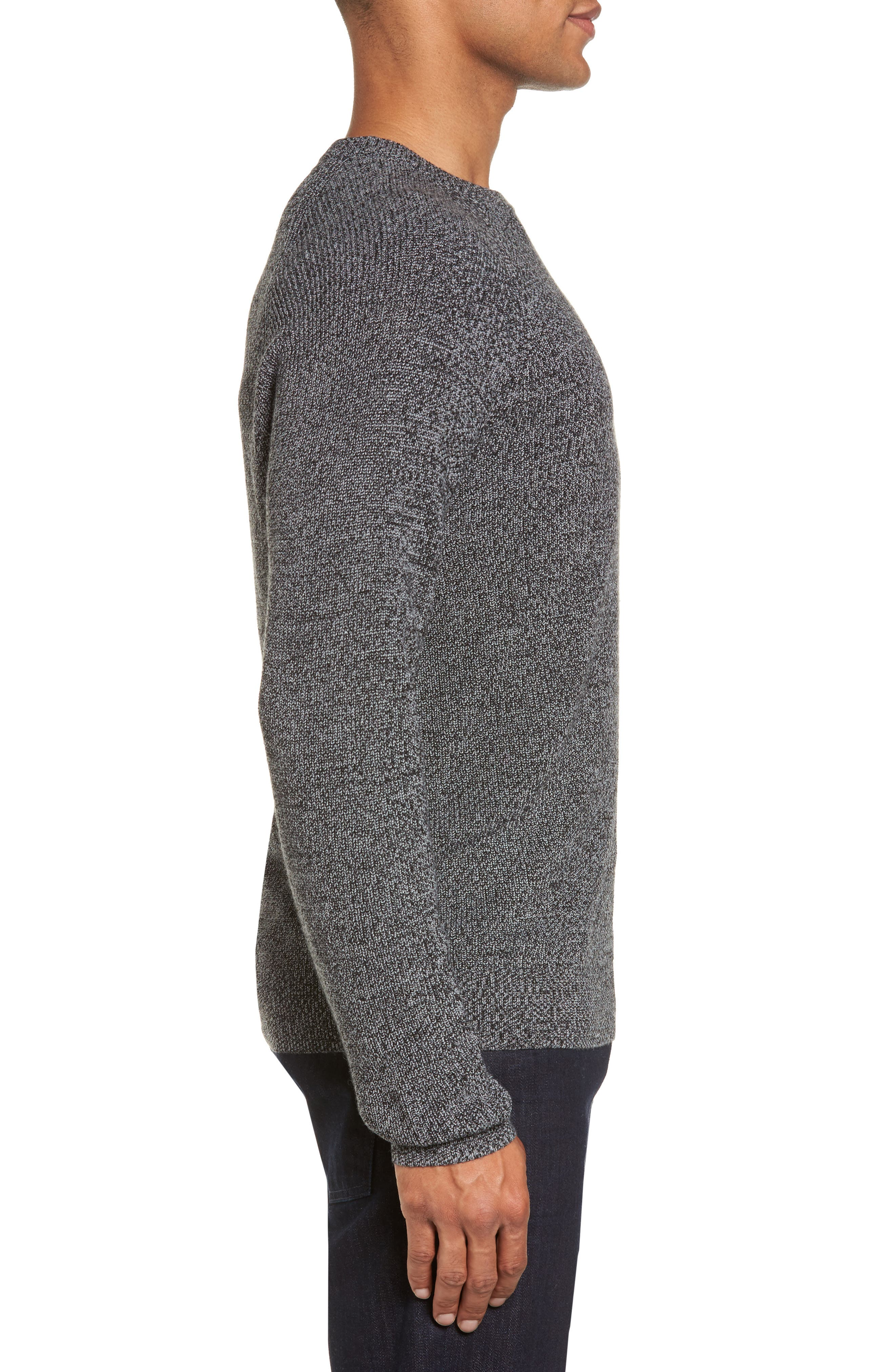 Alternate Image 3  - Nordstrom Men's Shop Textured Merino Wool Blend Sweater