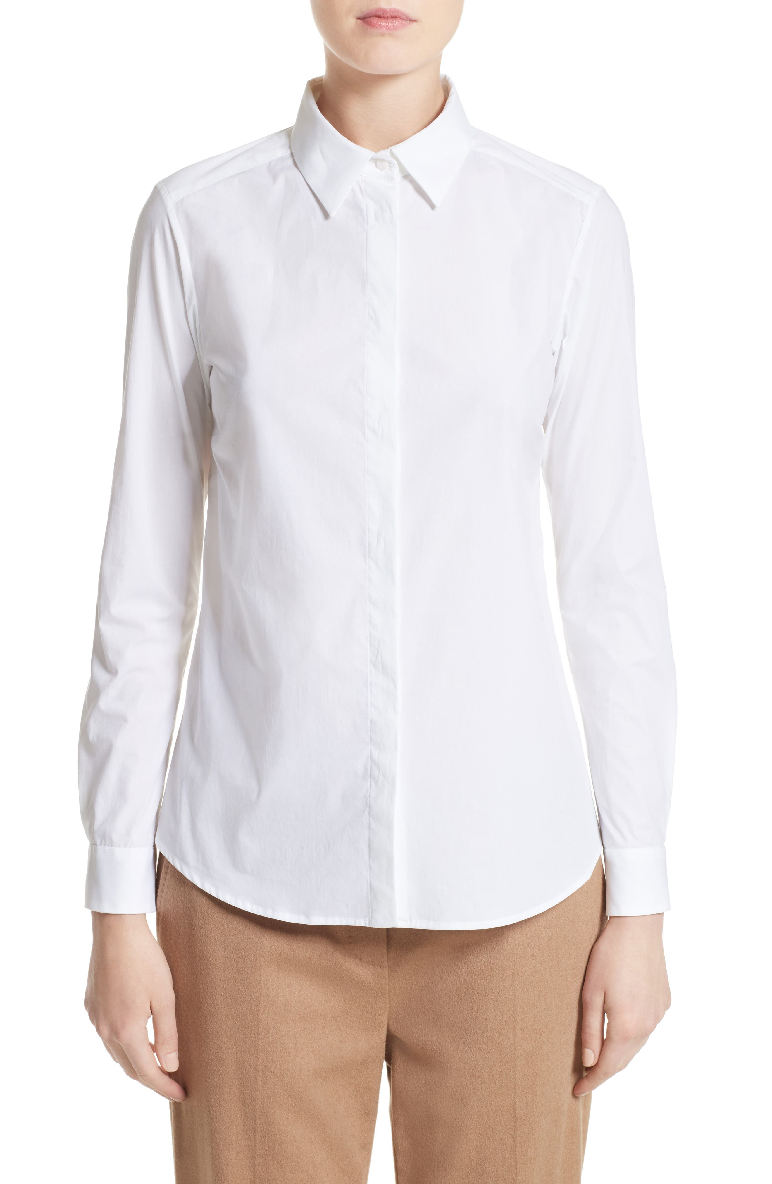 Max Mara Spadino Stretch Cotton Shirt