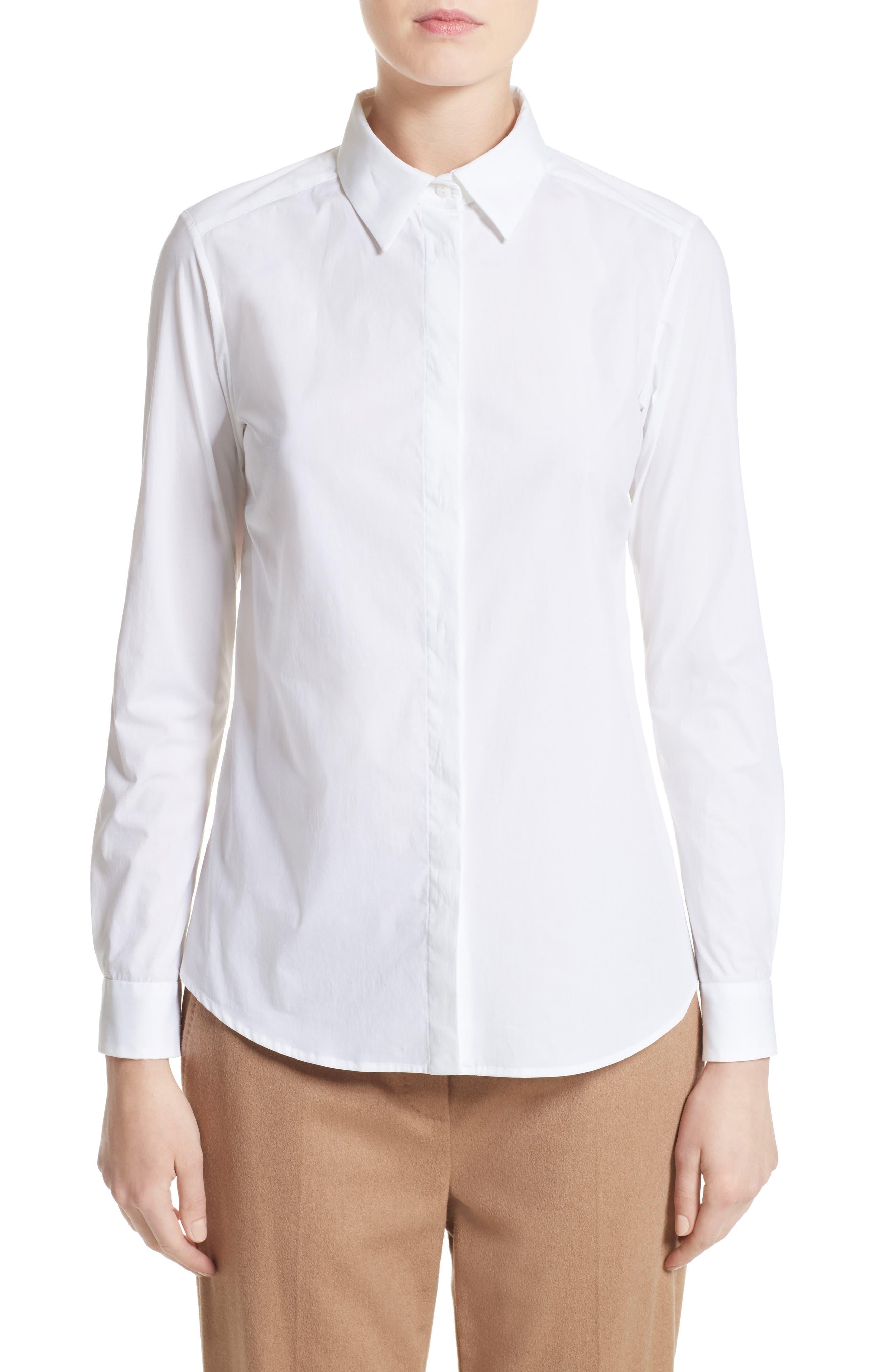 Max Mara Spadino Stretch Cotton Shirt