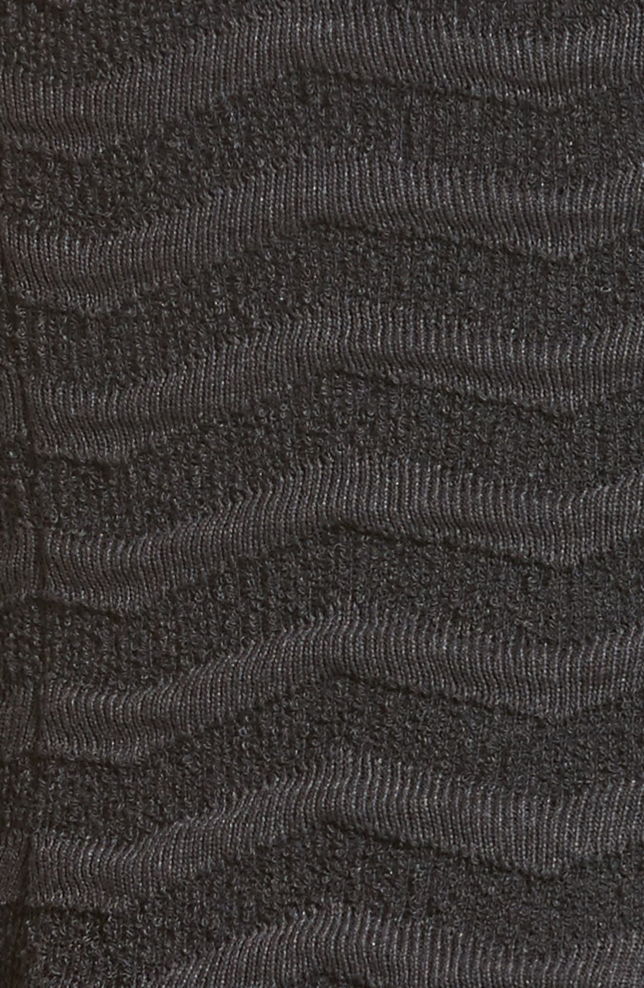 Alternate Image 3  - Armani Collezioni Embossed Jacquard Jersey A-Line Dress