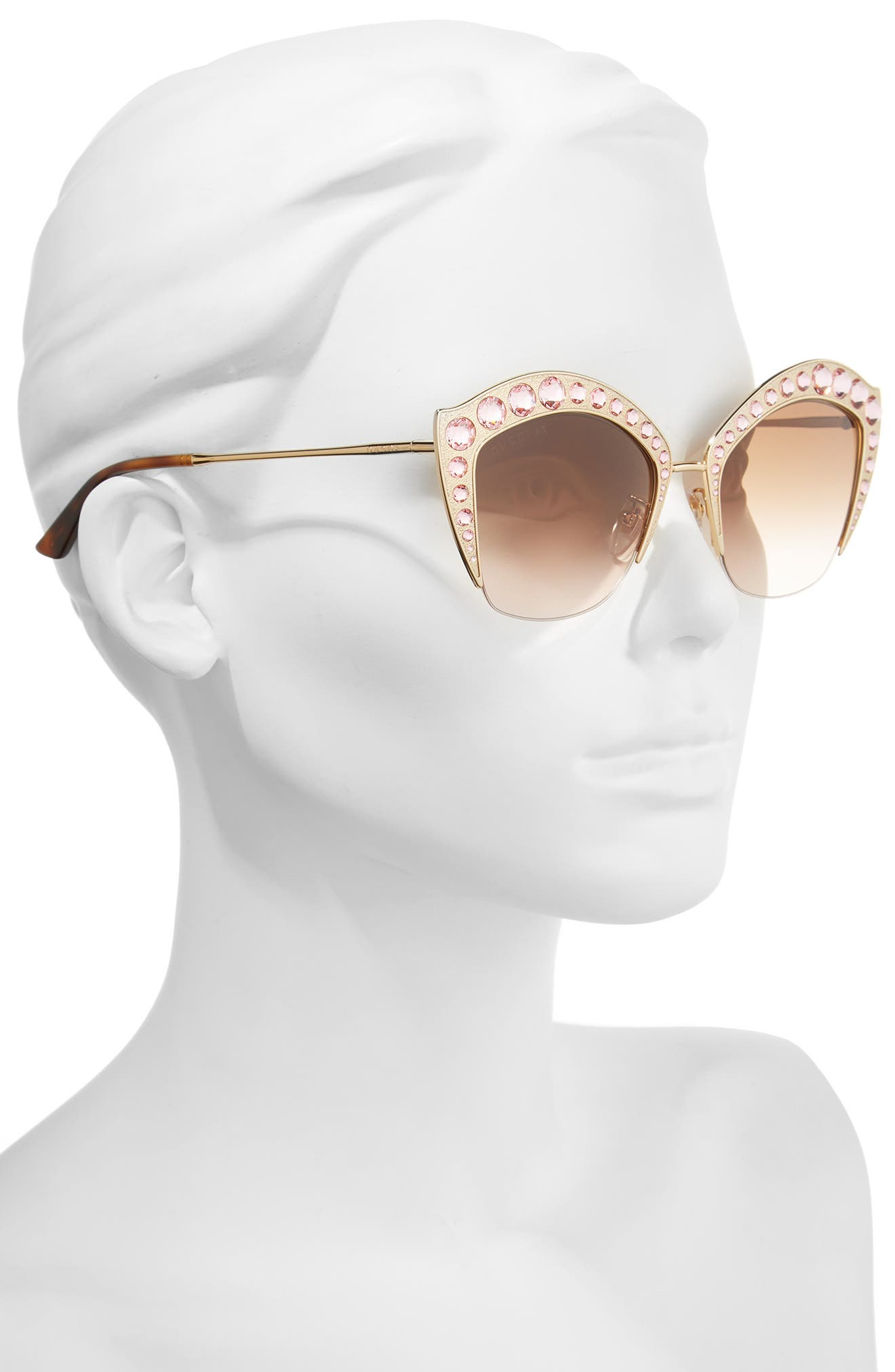 Alternate Image 2  - Gucci 53mm Embellished Cat Eye Sunglasses