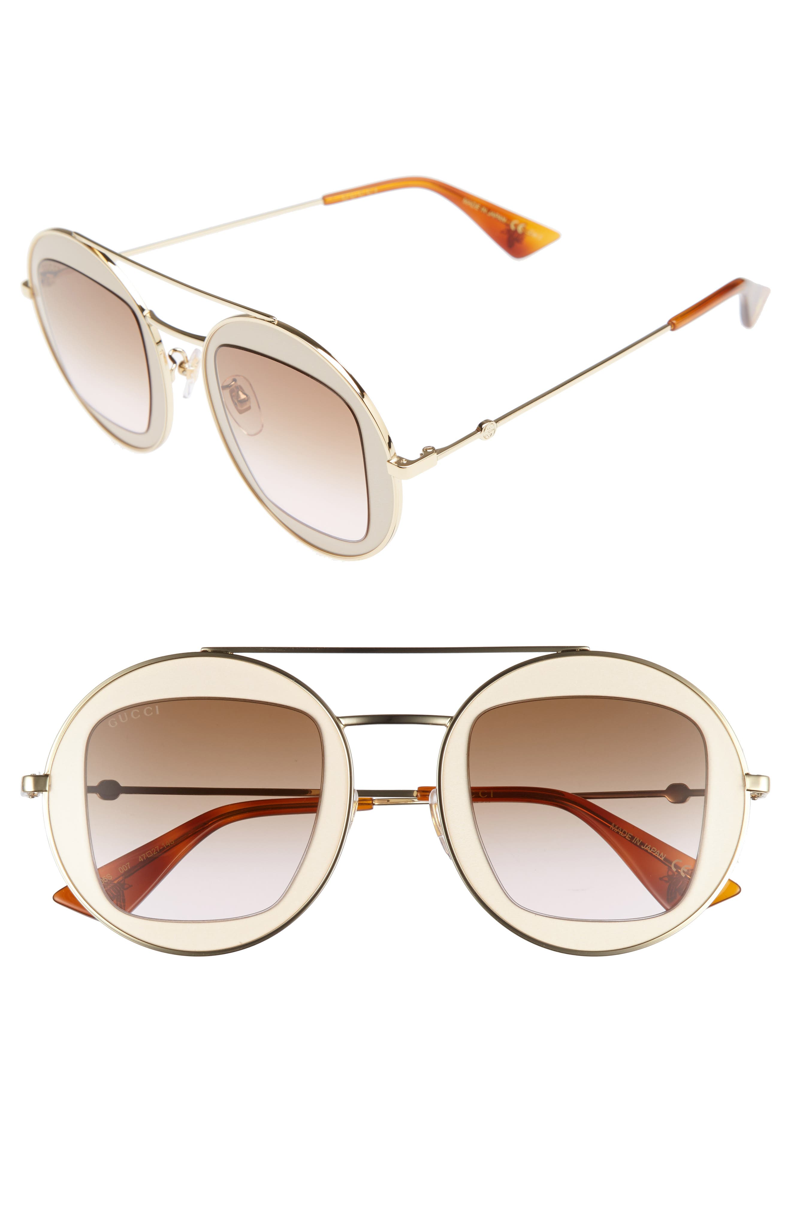 Alternate Image 1 Selected - Gucci 47mm Round Sunglasses