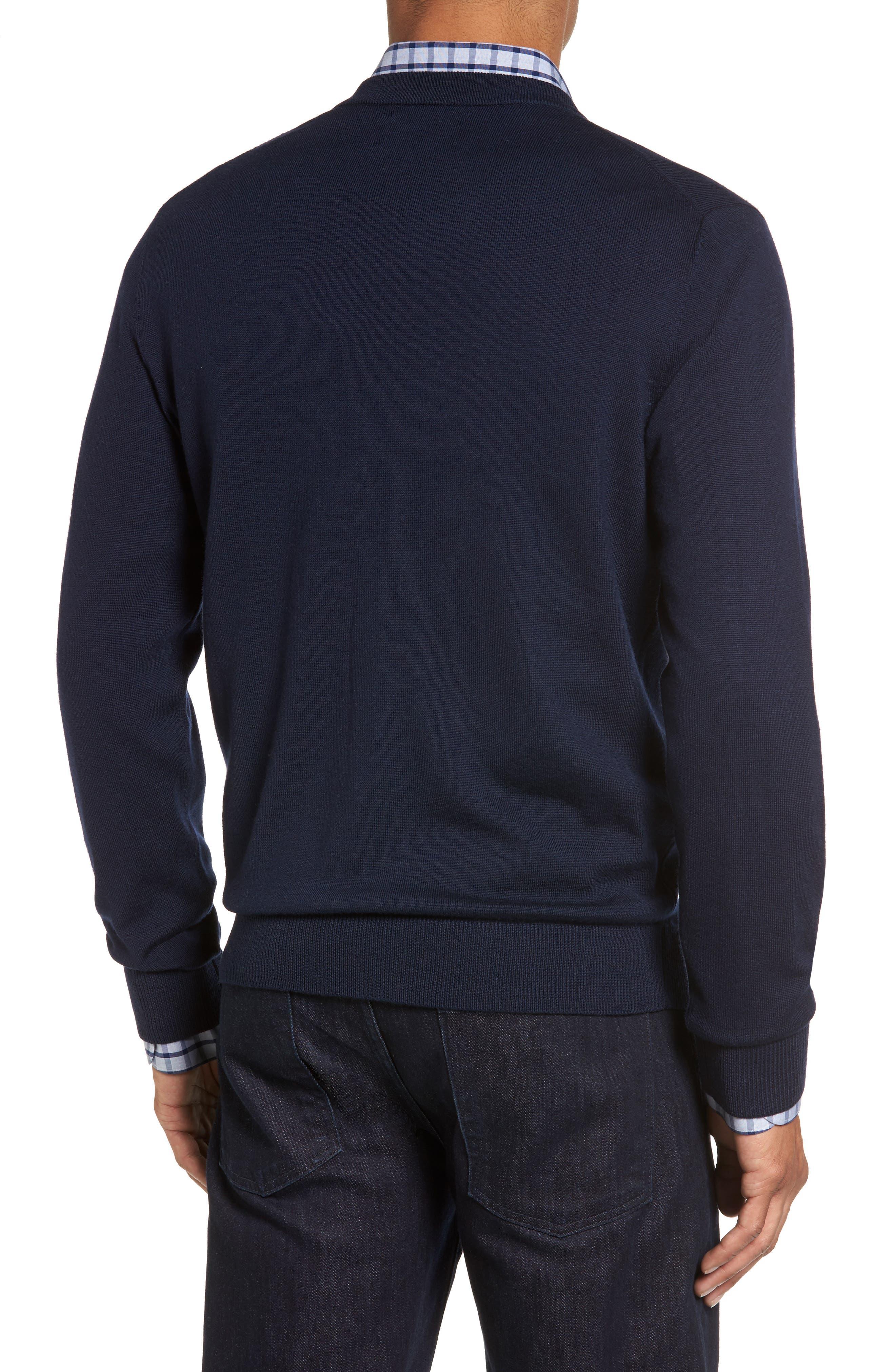 Alternate Image 2  - Nordstrom Men's Shop Merino V-Neck Cardigan