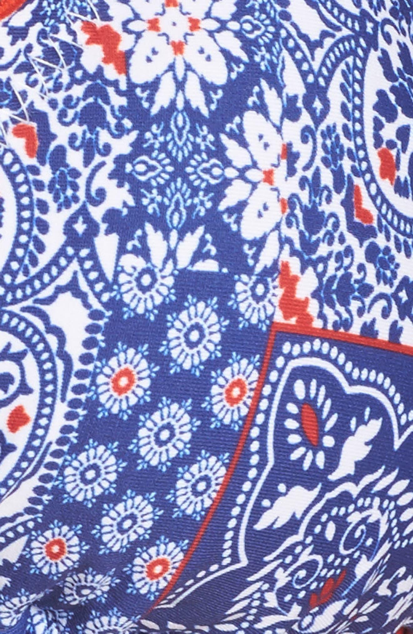 Naughty Girl Bikini Top,                             Alternate thumbnail 5, color,                             Blue Multi