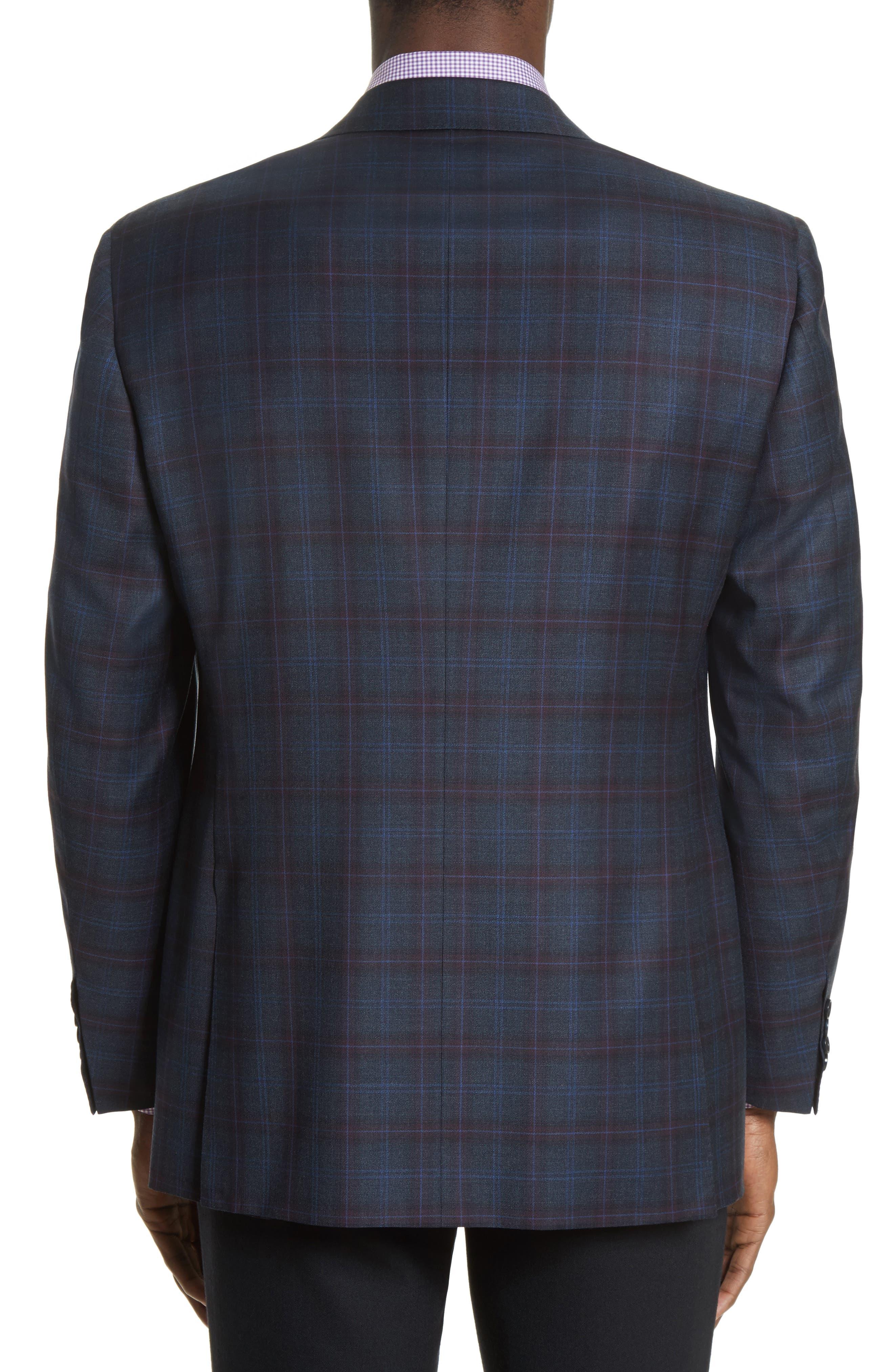 Alternate Image 2  - Canali Kei Classic Fit Plaid Wool Sport Coat