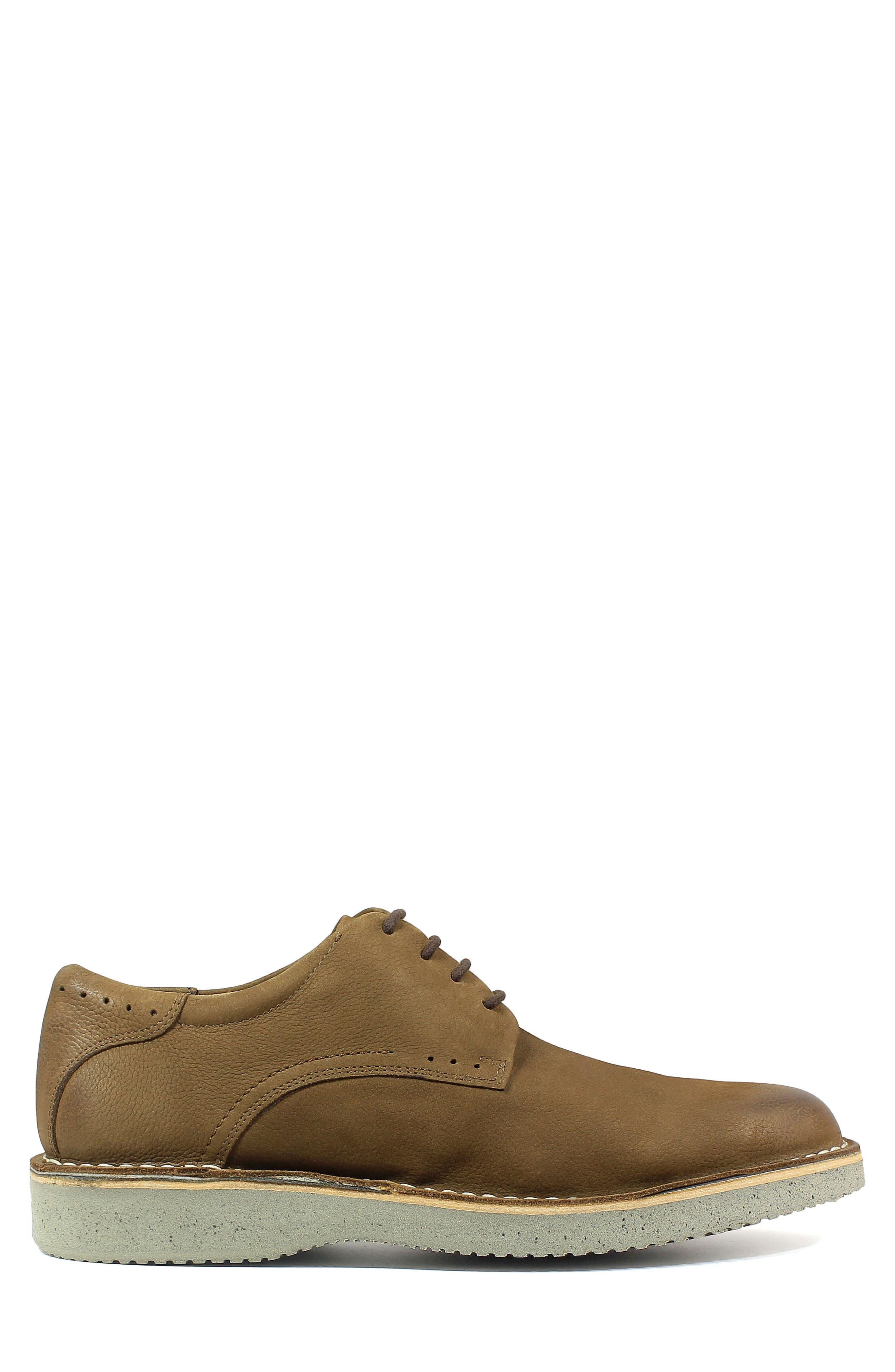 Navigator Plain Toe Oxford,                             Alternate thumbnail 3, color,                             Cocoa Nubuck Leather