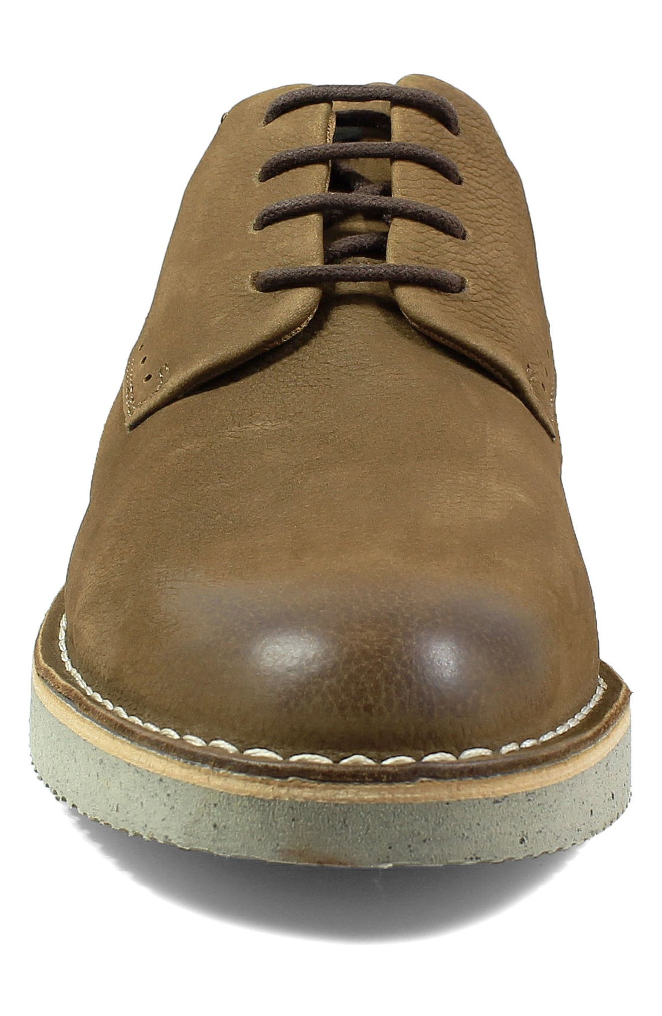 Navigator Plain Toe Oxford,                             Alternate thumbnail 4, color,                             Cocoa Nubuck Leather