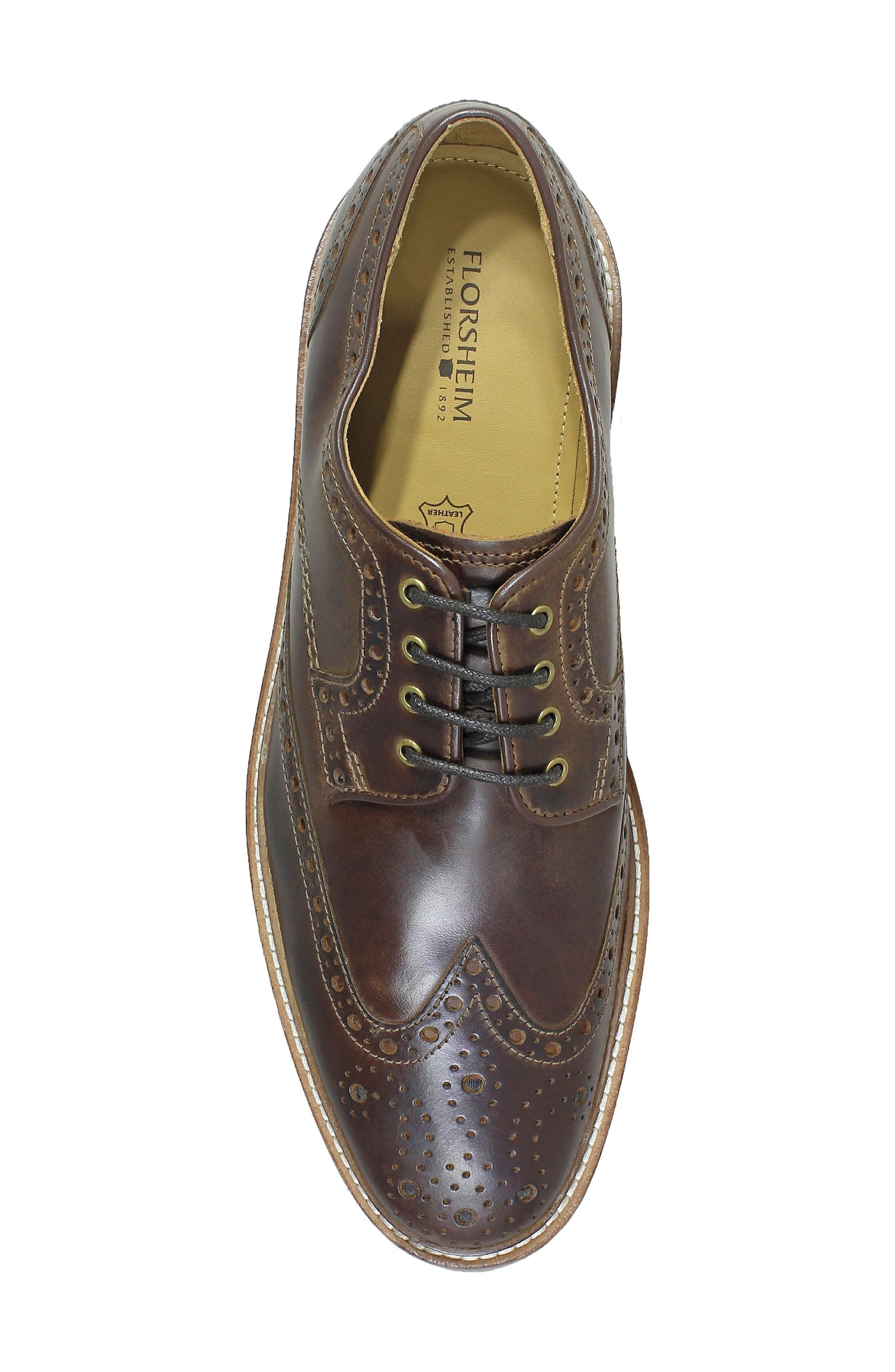 Blaze Cap Toe Derby,                             Alternate thumbnail 5, color,                             Cognac Leather