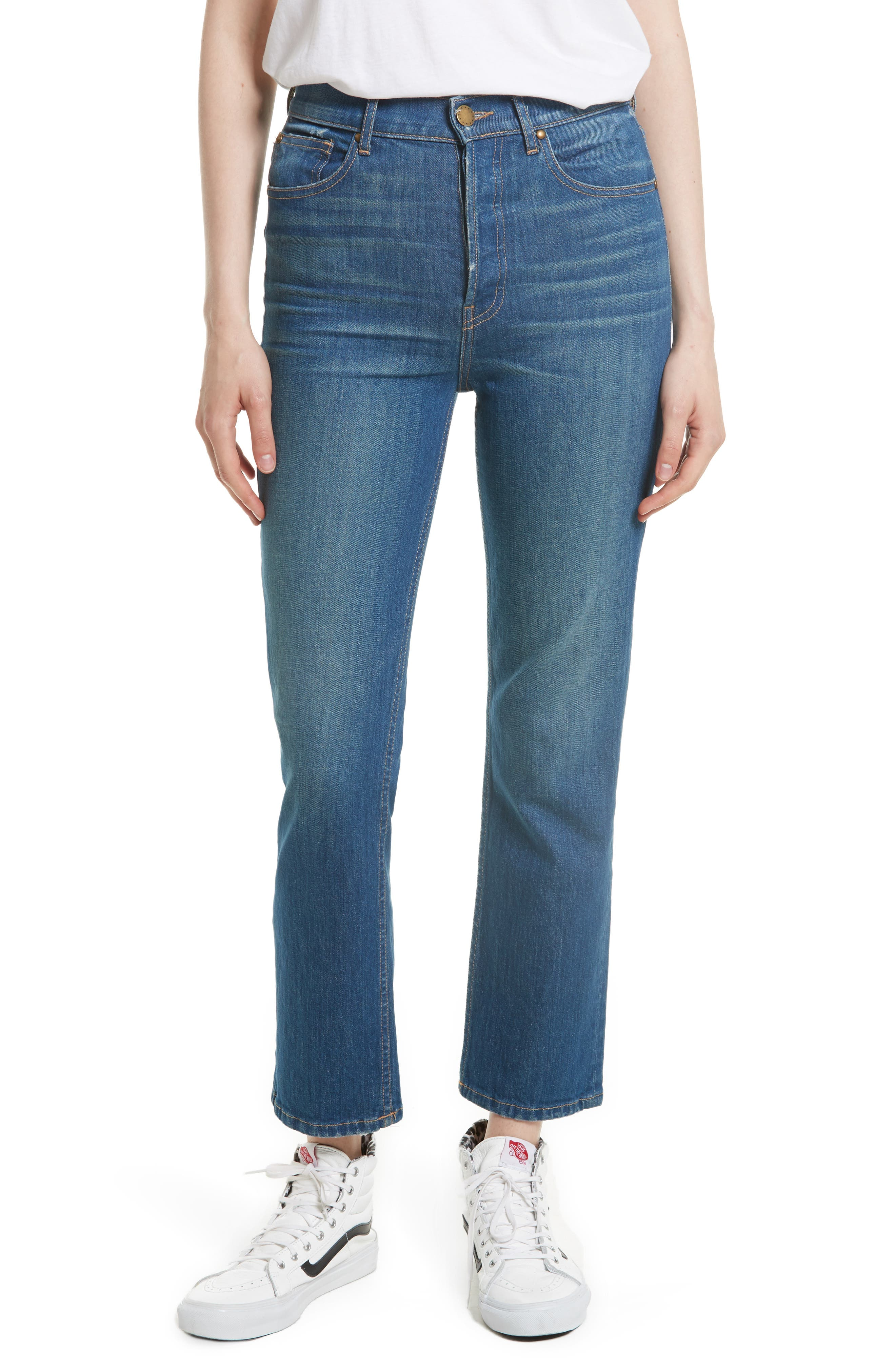 Alternate Image 1 Selected - THE GREAT. The Straight A Jeans (Track Wash)