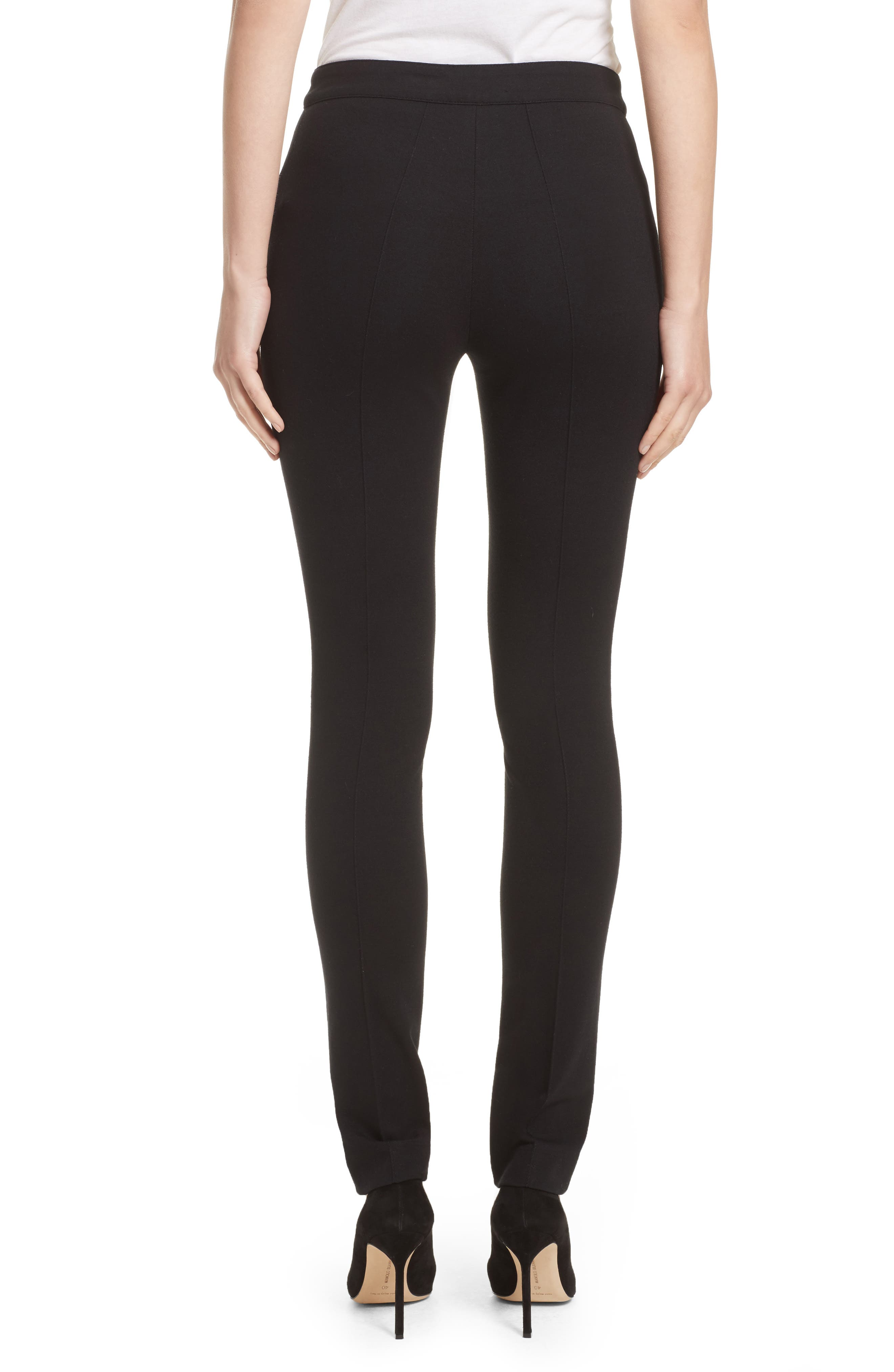 Stretch Jersey Pants,                             Alternate thumbnail 6, color,                             Black