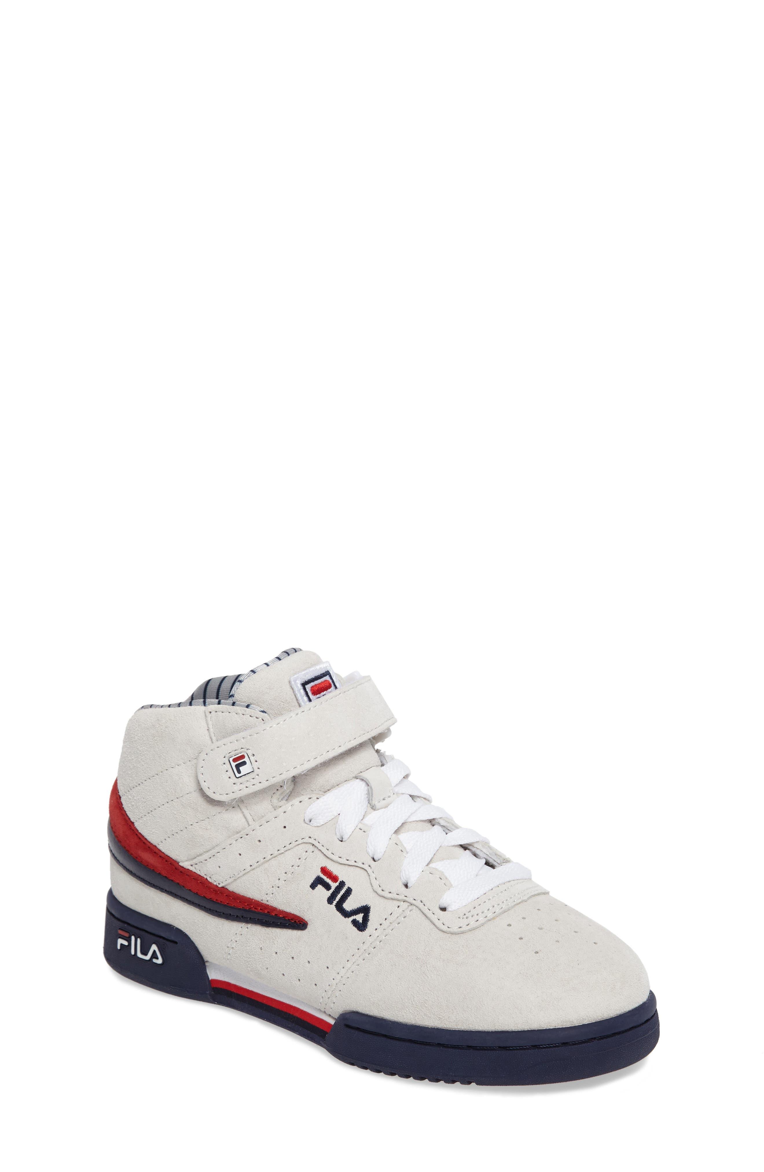 FILA F-13 Mid Pinstripe Sneaker (Big Kid)
