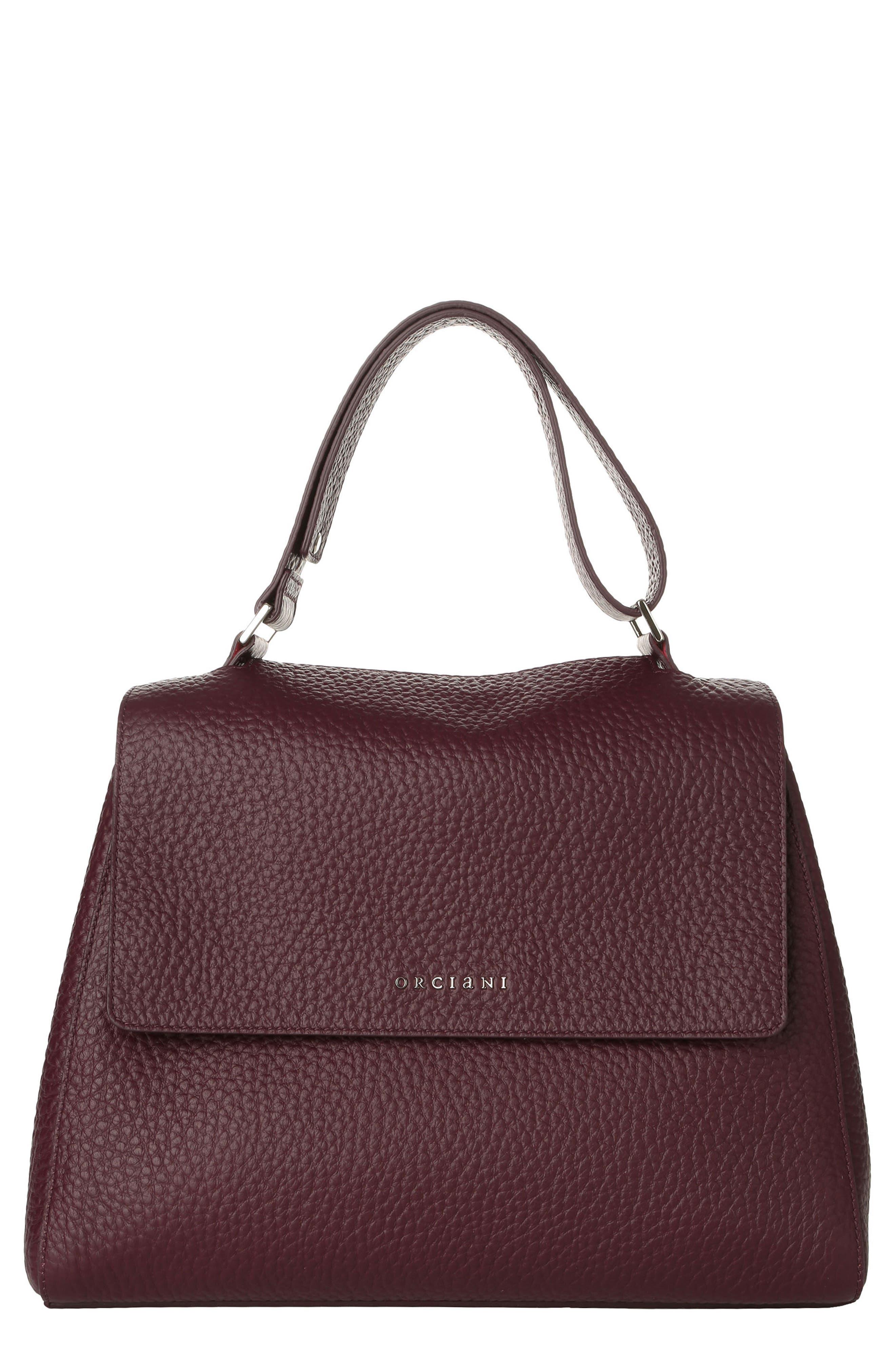 ORCIANI Medium Sveva Soft Leather Top Handle Satchel