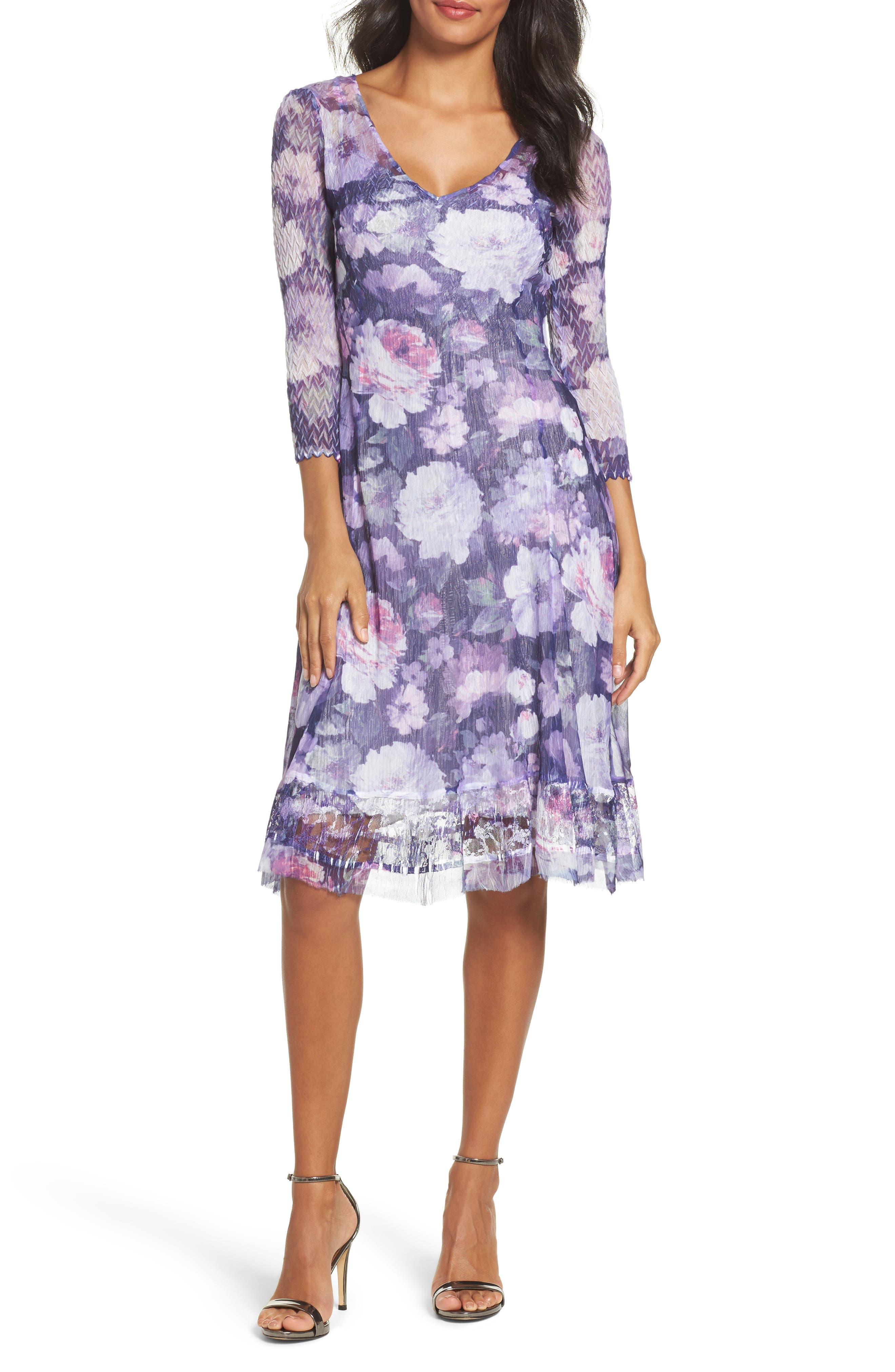 Main Image - Komarov Mixed Media Dress (Regular & Petite)