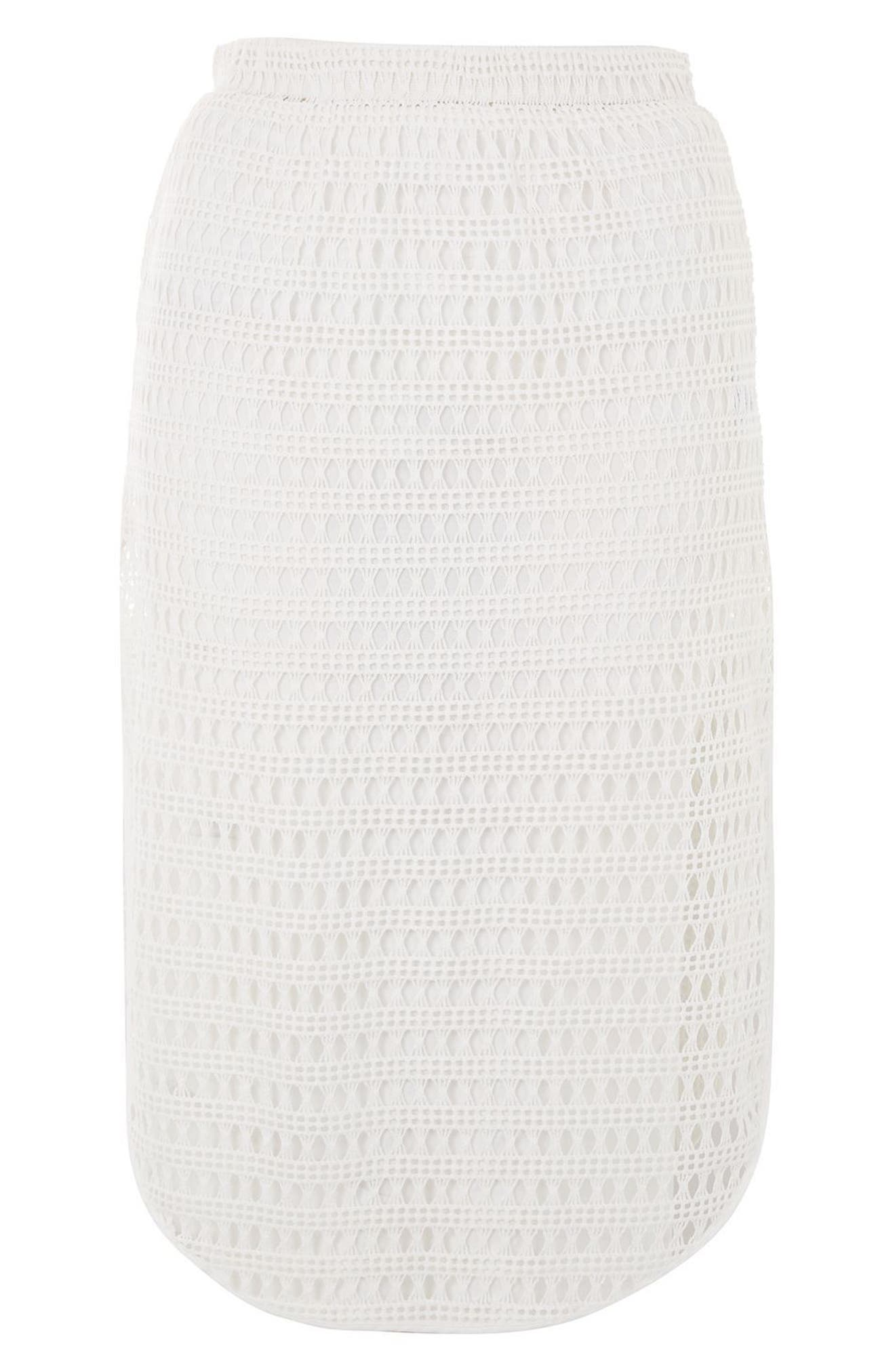 Alternate Image 4  - Topshop Lace Cover-Up Skirt