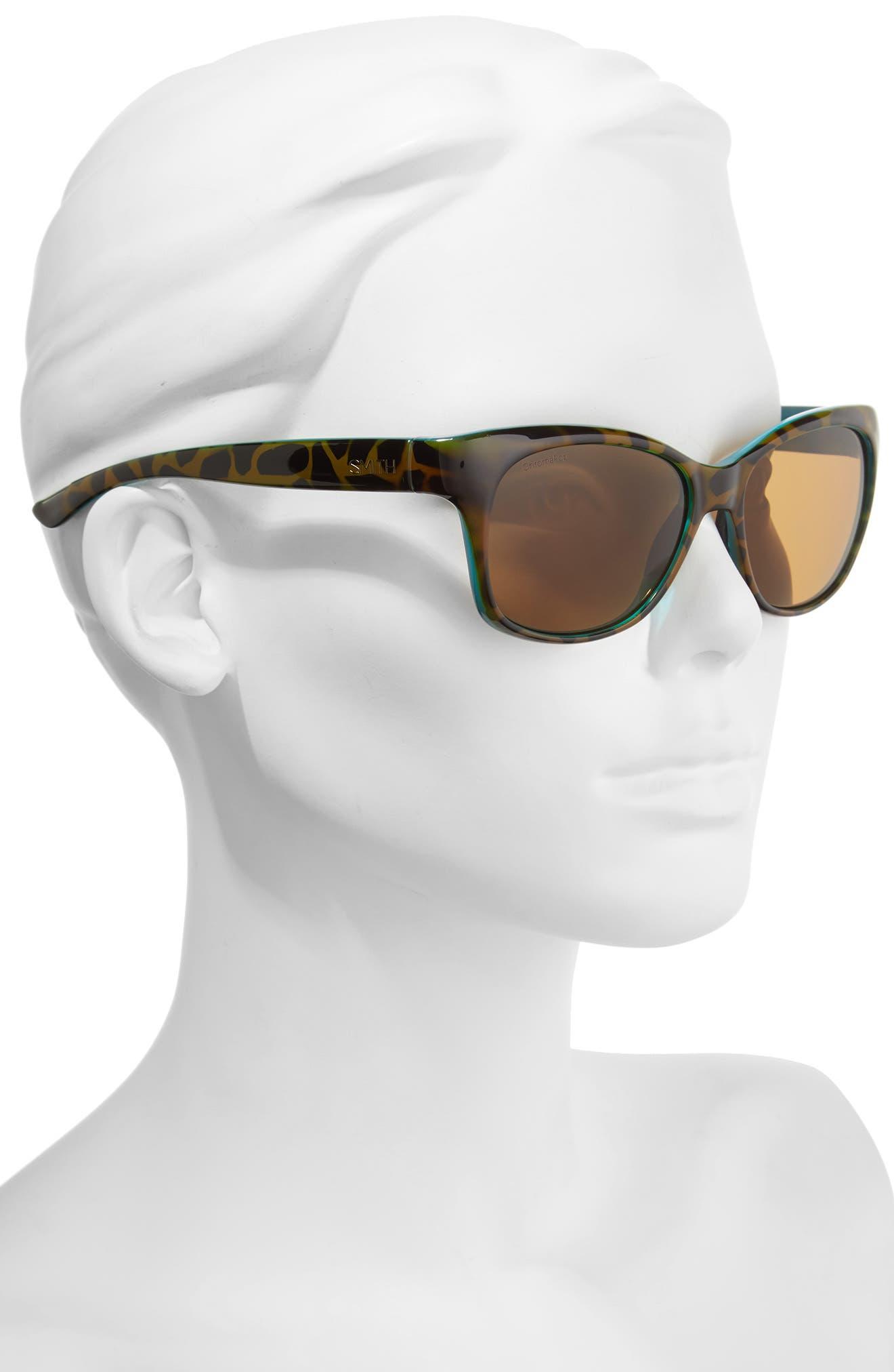 Feature ChromaPop 54mm Polarized Sunglasses,                             Alternate thumbnail 2, color,                             Tortoise Marine