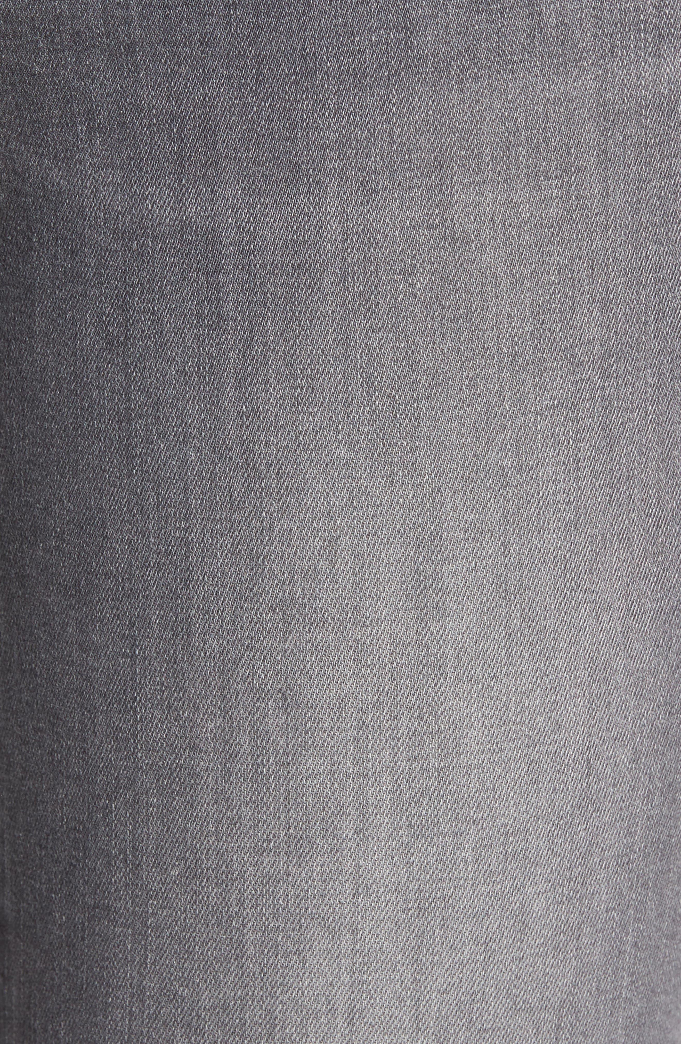 Alternate Image 6  - PAIGE Verdugo Raw Hem Ankle Skinny Jeans (Sea Salt)